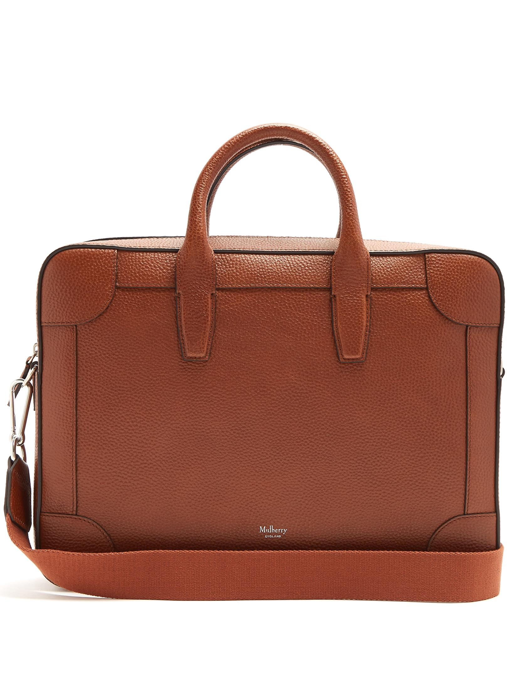 MULBERRY Belgrave Full-grain Leather Briefcase Release Dates Online Free Shipping Low Price HvM7wySF6K