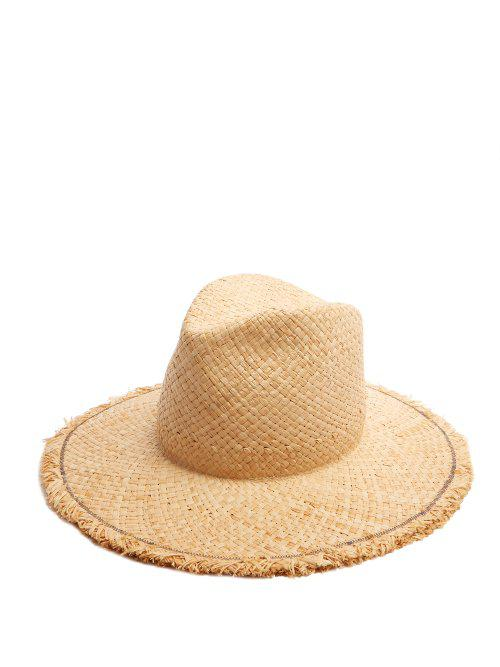 Large Dads frayed-edged straw hat Lola Hats fzzTEXHq