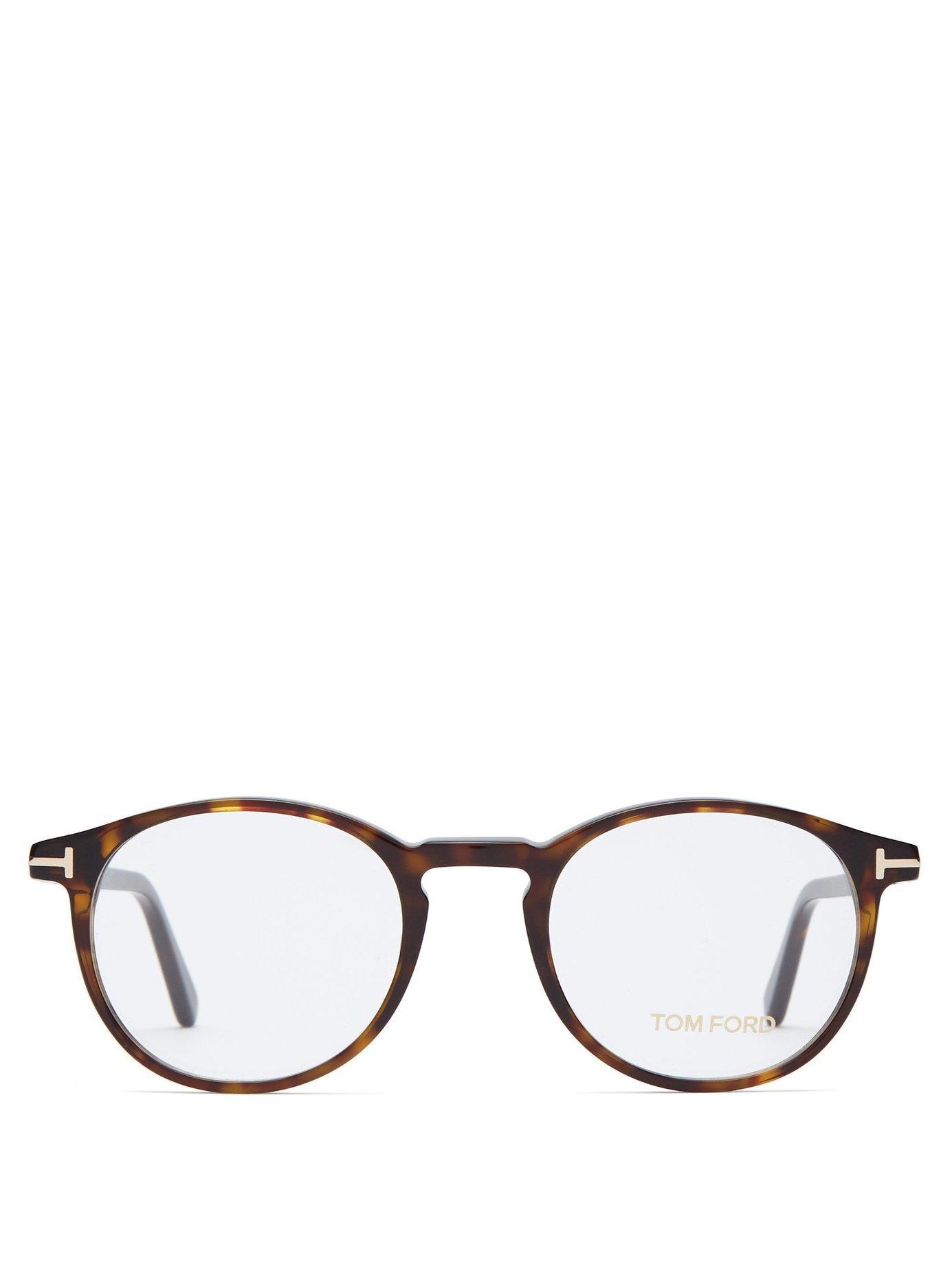 677d6a7dd4a Tom Ford - Brown Tortoiseshell Round Frame Glasses for Men - Lyst. View  fullscreen