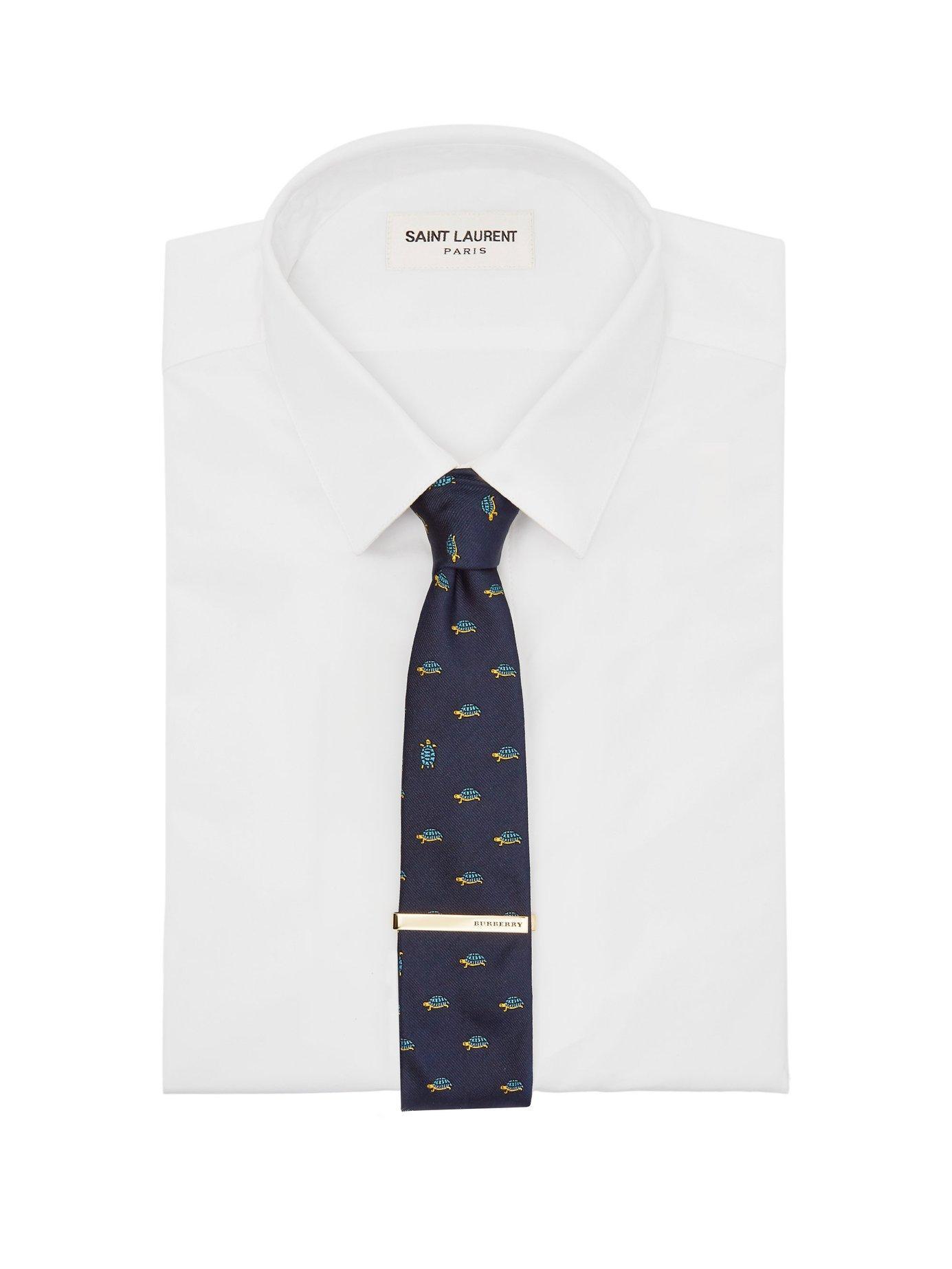 1663d8524bf8 Lyst - Burberry Logo Engraved Tie Bar in Metallic for Men