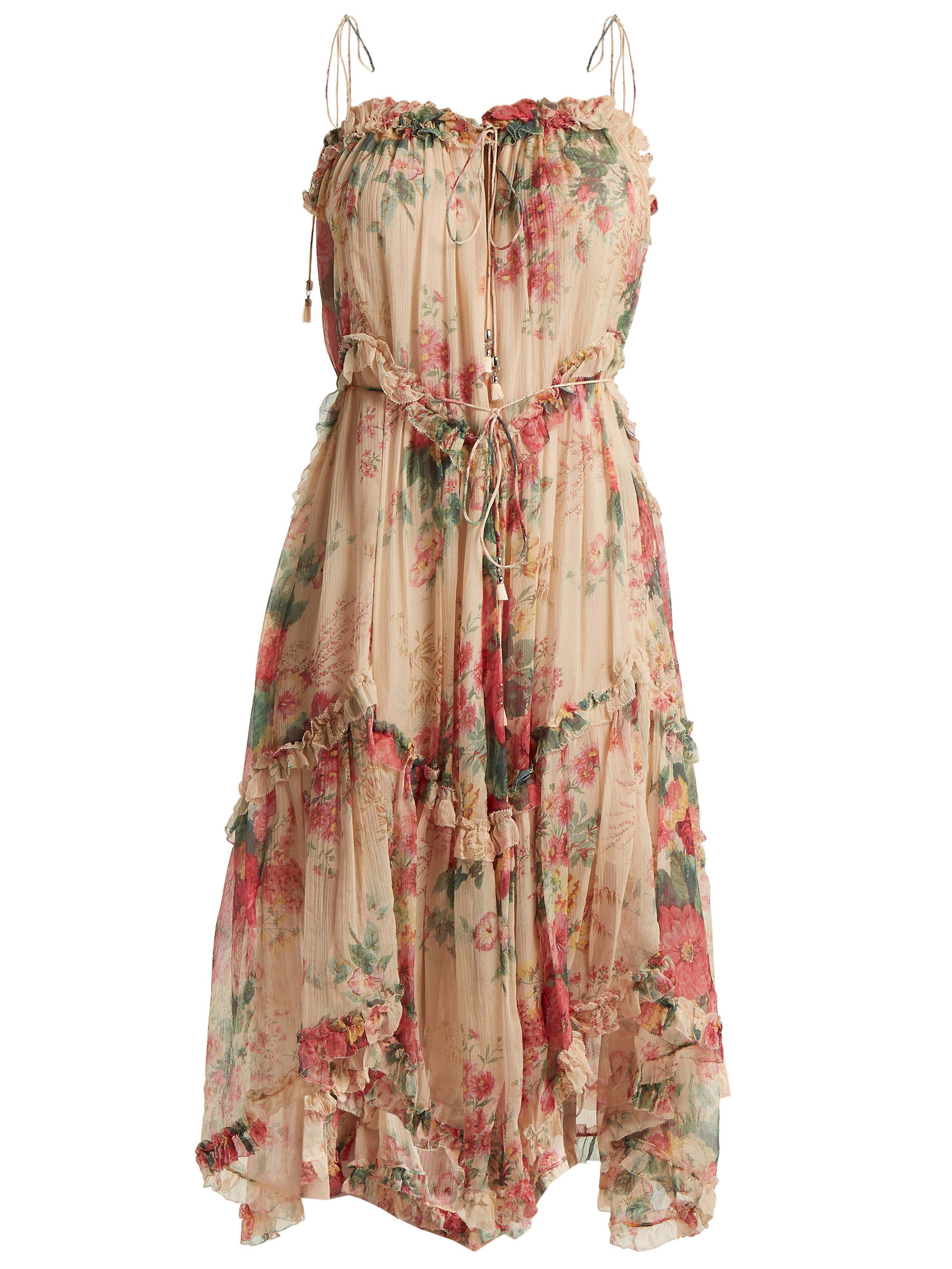 6f75358d18 Zimmermann Laelia Floral Print Silk Dress - Save 17% - Lyst