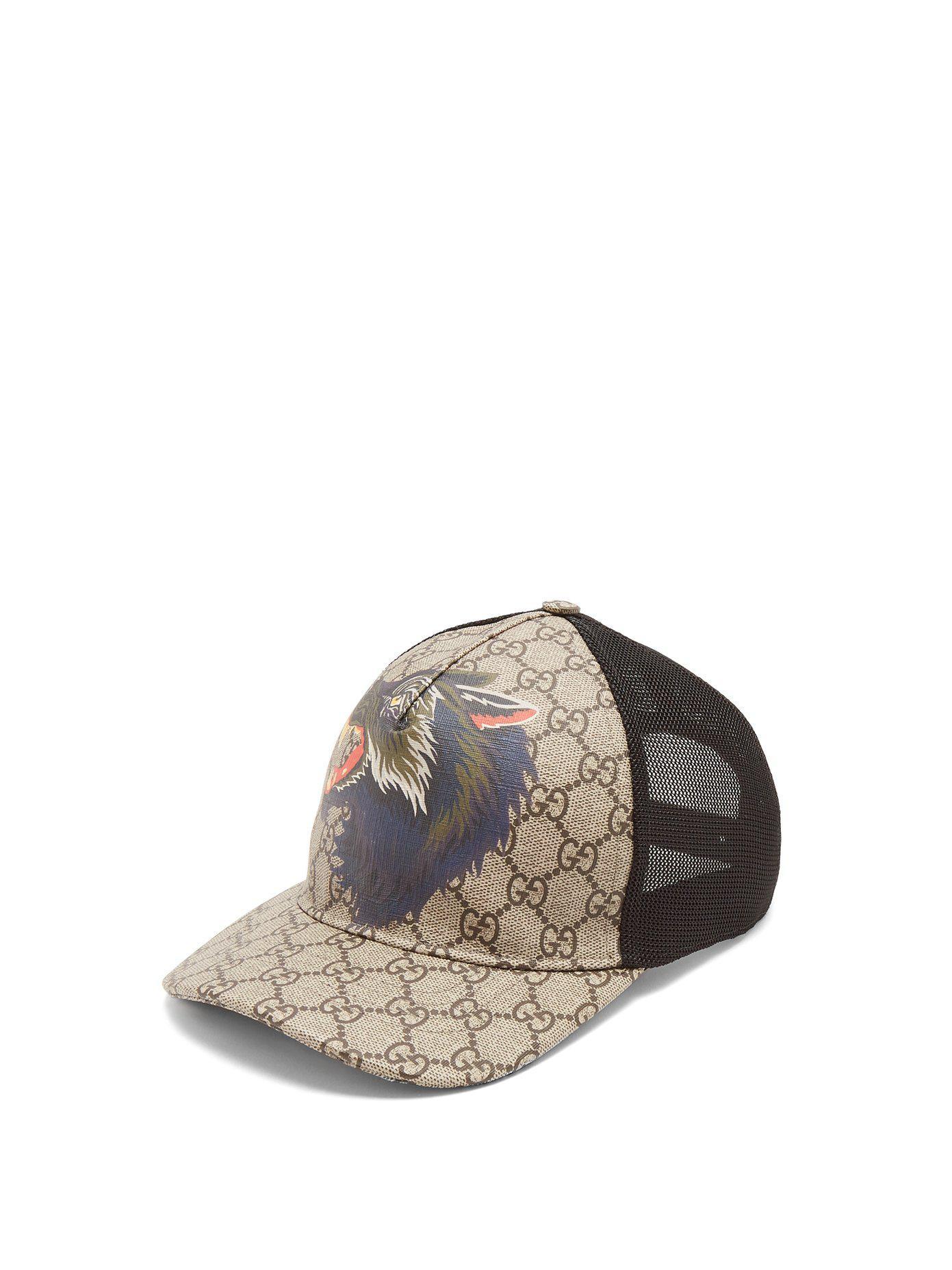 Lyst - Casquette en résille et cuir à imprimé étoiles Gucci pour homme b260469eb74