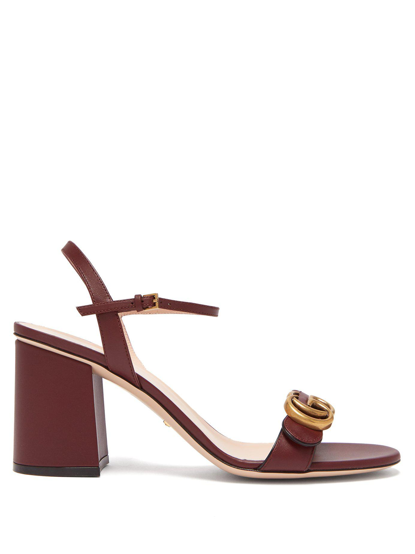 b370952a95bdc Gucci - Multicolor Gg Marmont Leather Sandals - Lyst. View fullscreen