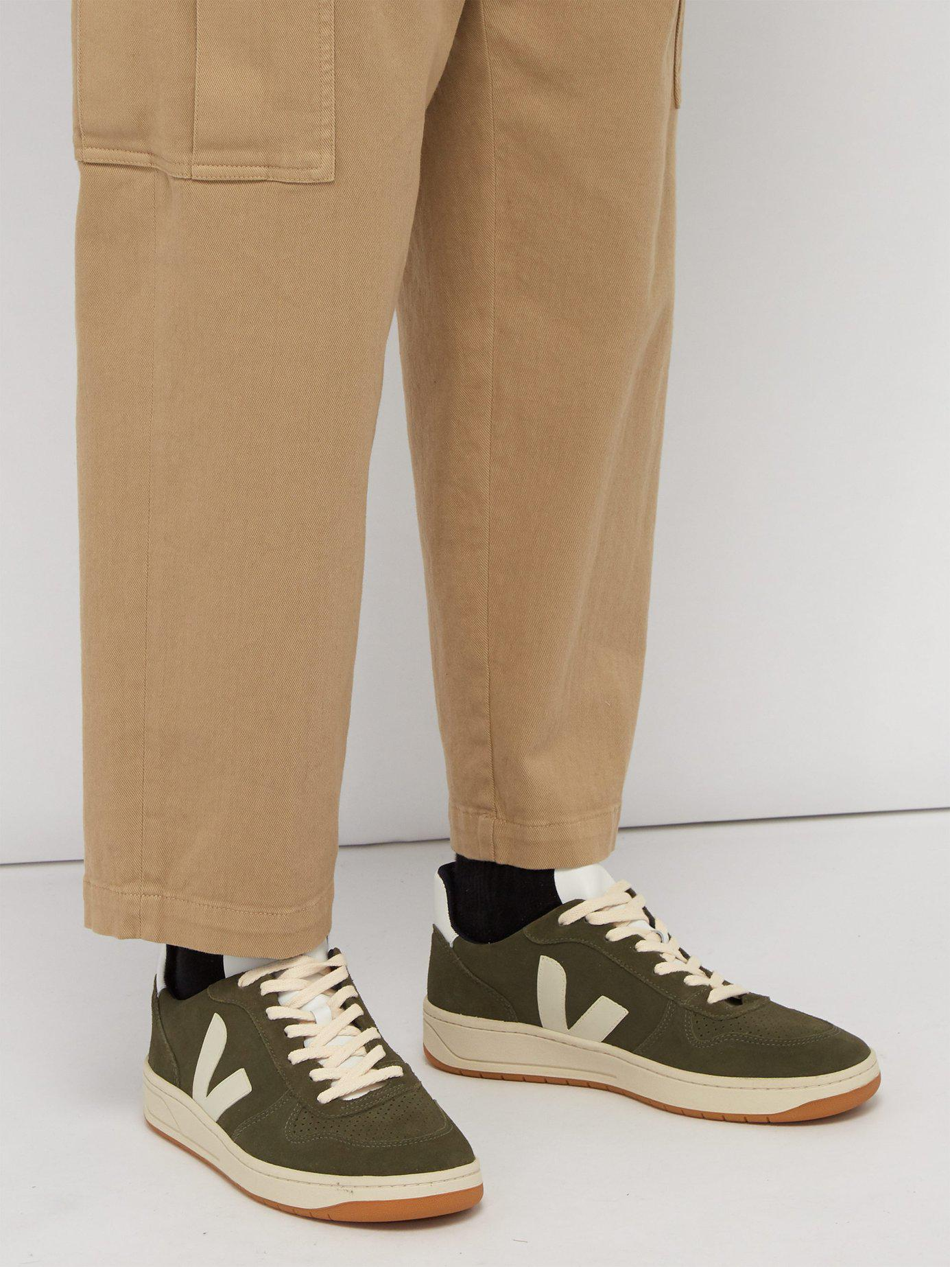 8c4c708df717b5 Veja - Green V 10 Low Top Suede Trainers for Men - Lyst. View fullscreen