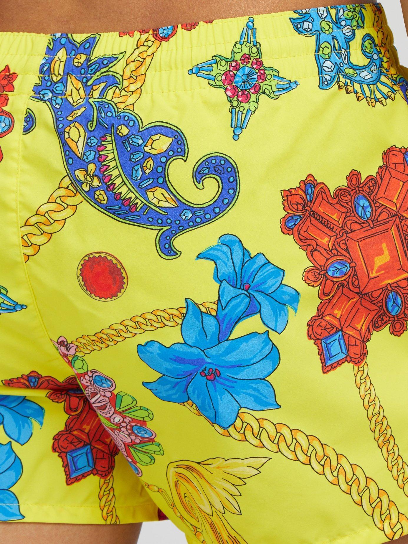 2fc883df37 Versace - Yellow Gioielleria Jetés Print Swim Shorts for Men - Lyst. View  fullscreen