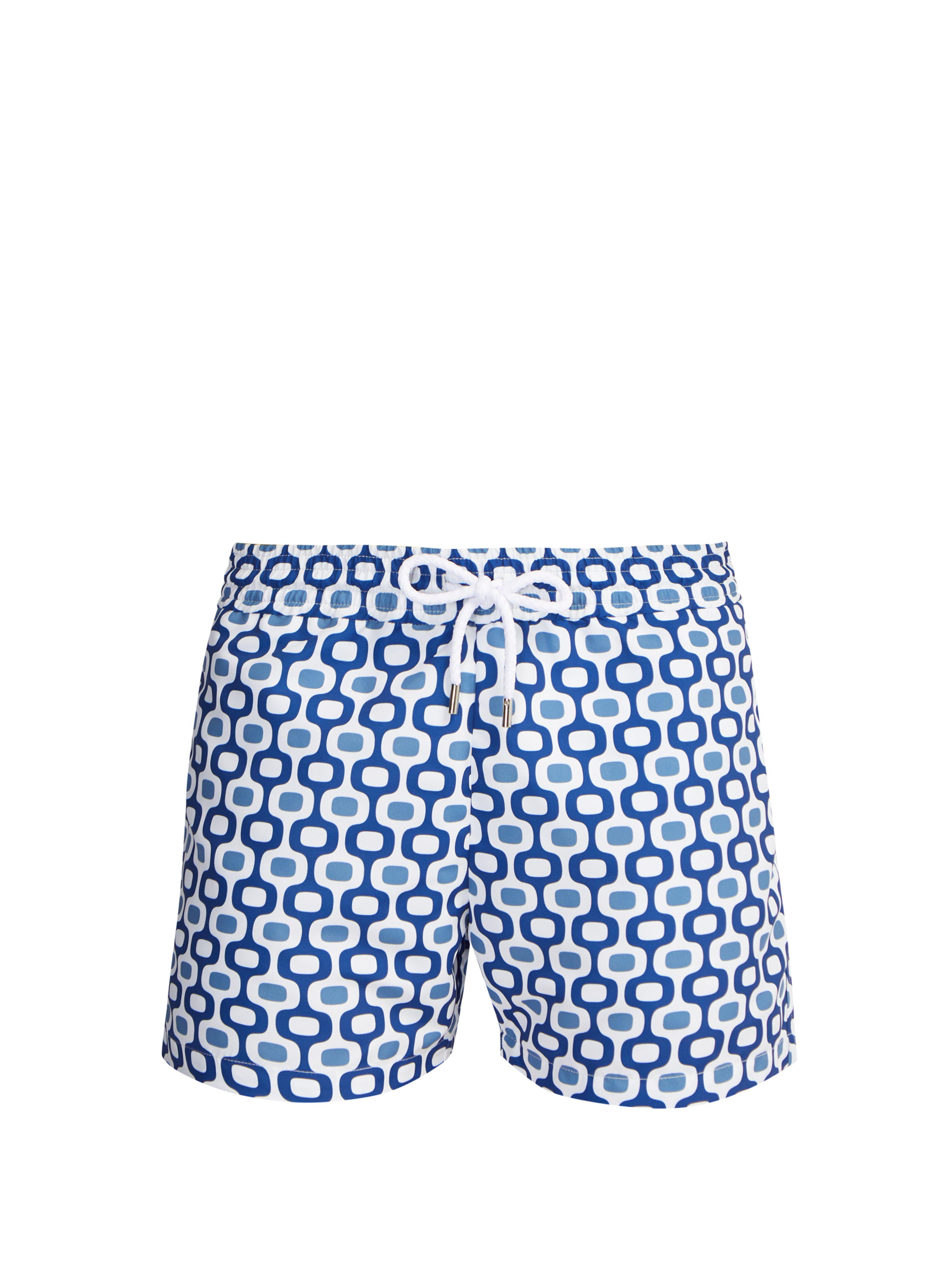 7e711eee2b0 Frescobol Carioca. Short de bain à imprimé Ipanema Sports homme de coloris  bleu