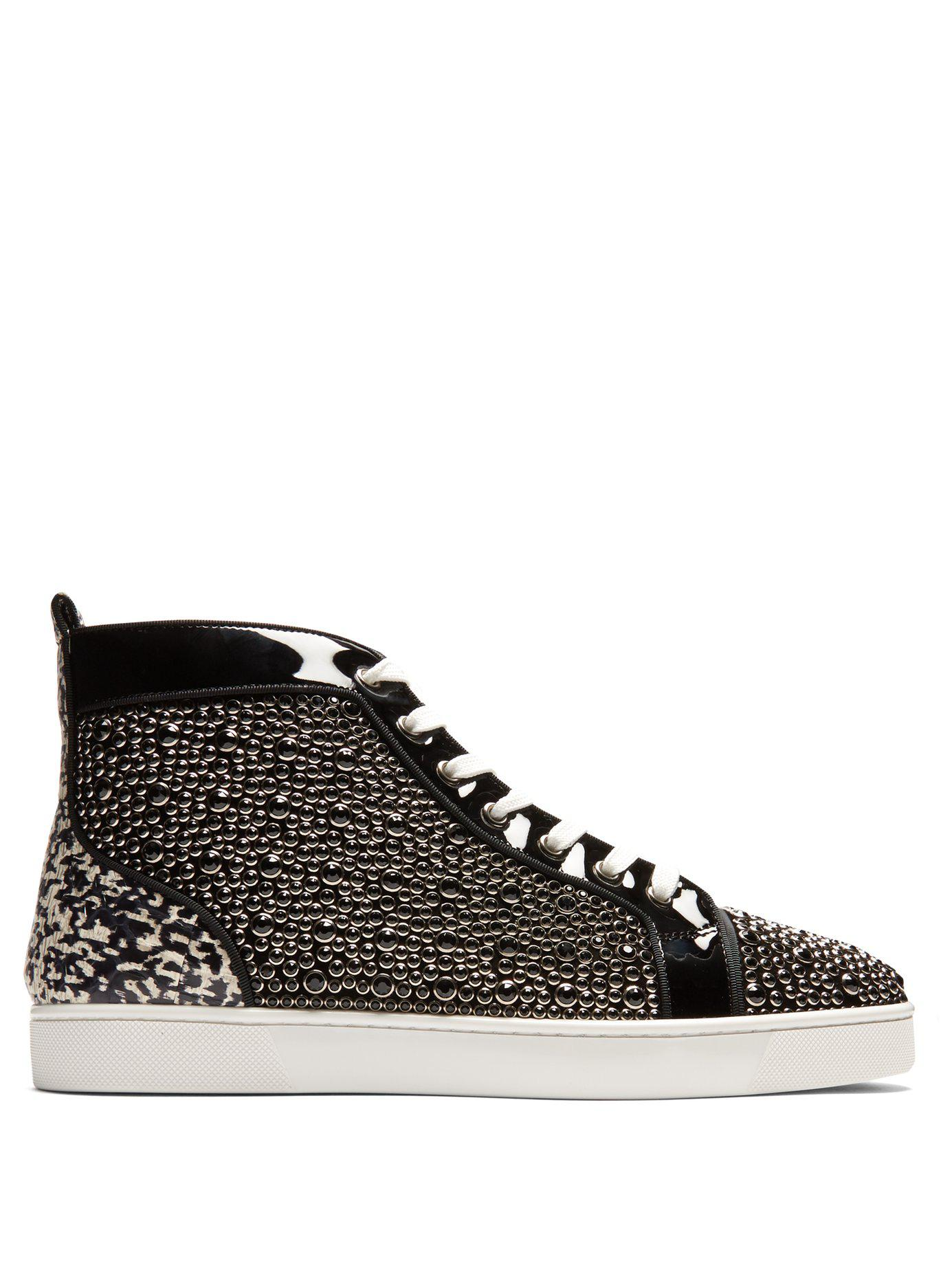 d3a666c22619 Lyst - Christian Louboutin Louis Orlato High Top Patent Leather ...