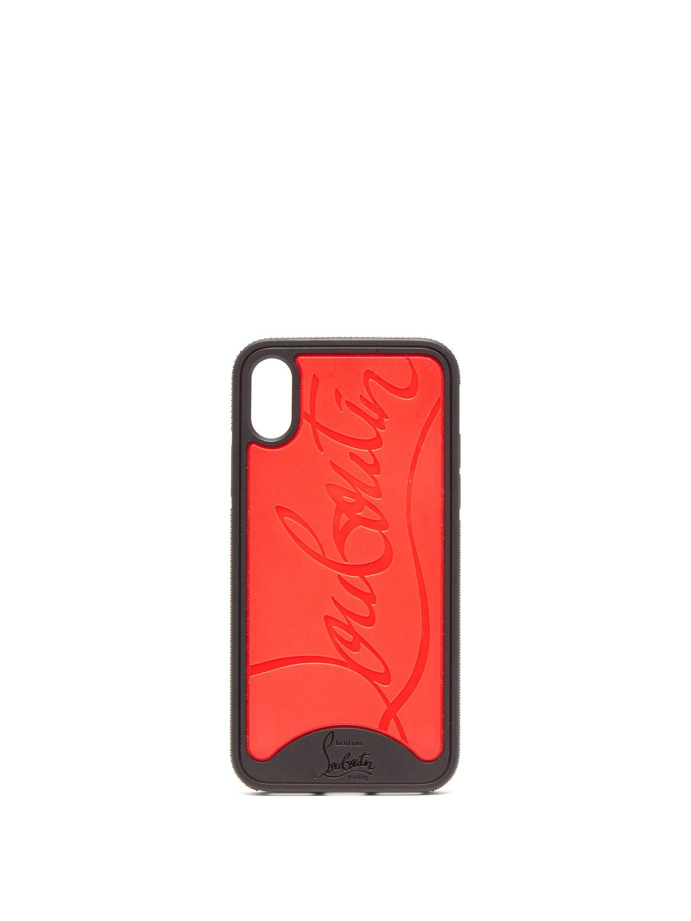89c2be649f9d Lyst - Christian Louboutin Loubiphone Logo Iphone® X Case in Red