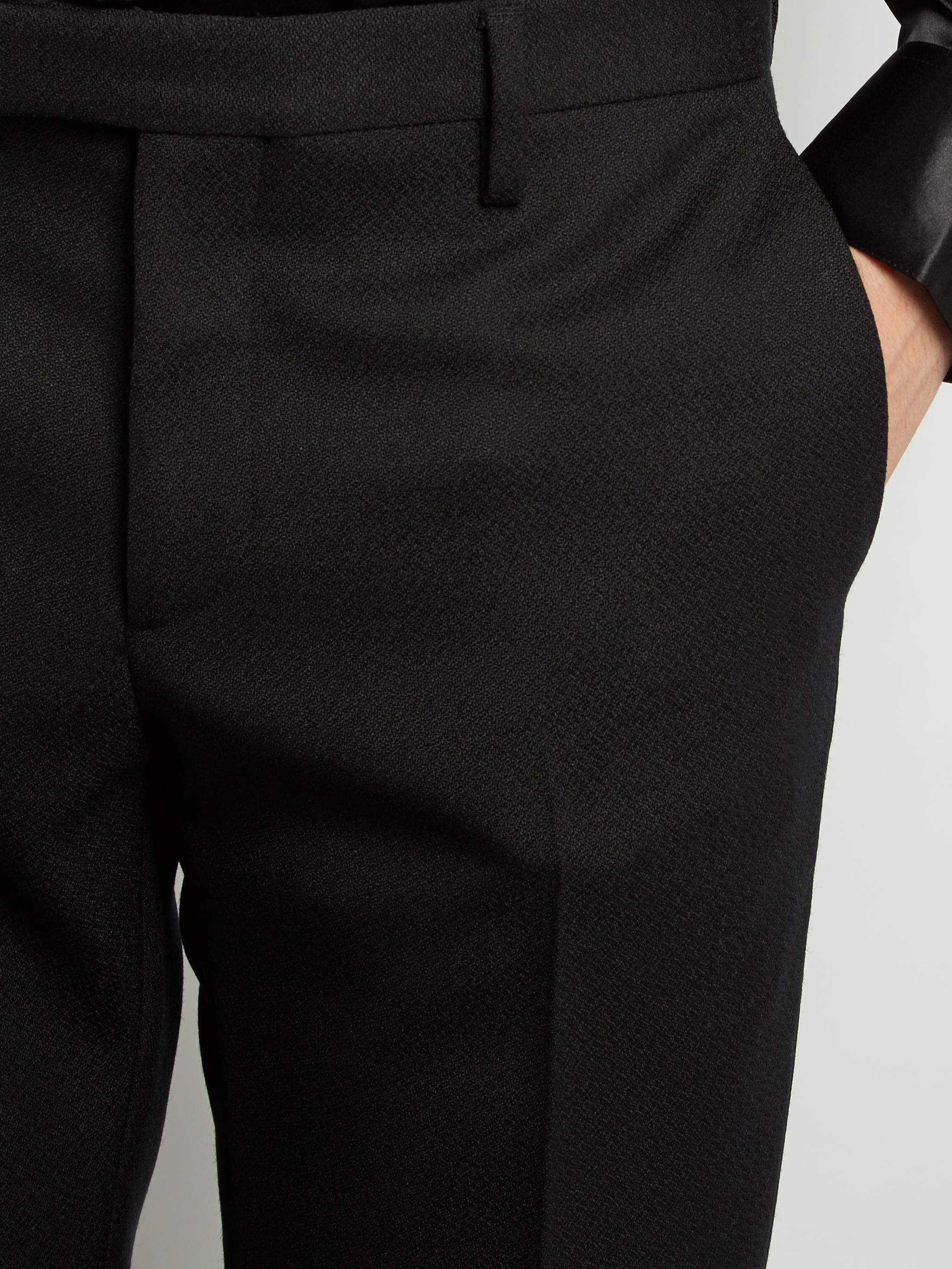 92d78dedb42 Saint Laurent Le Smoking Grain De Poudre Tuxedo Trousers in Black ...