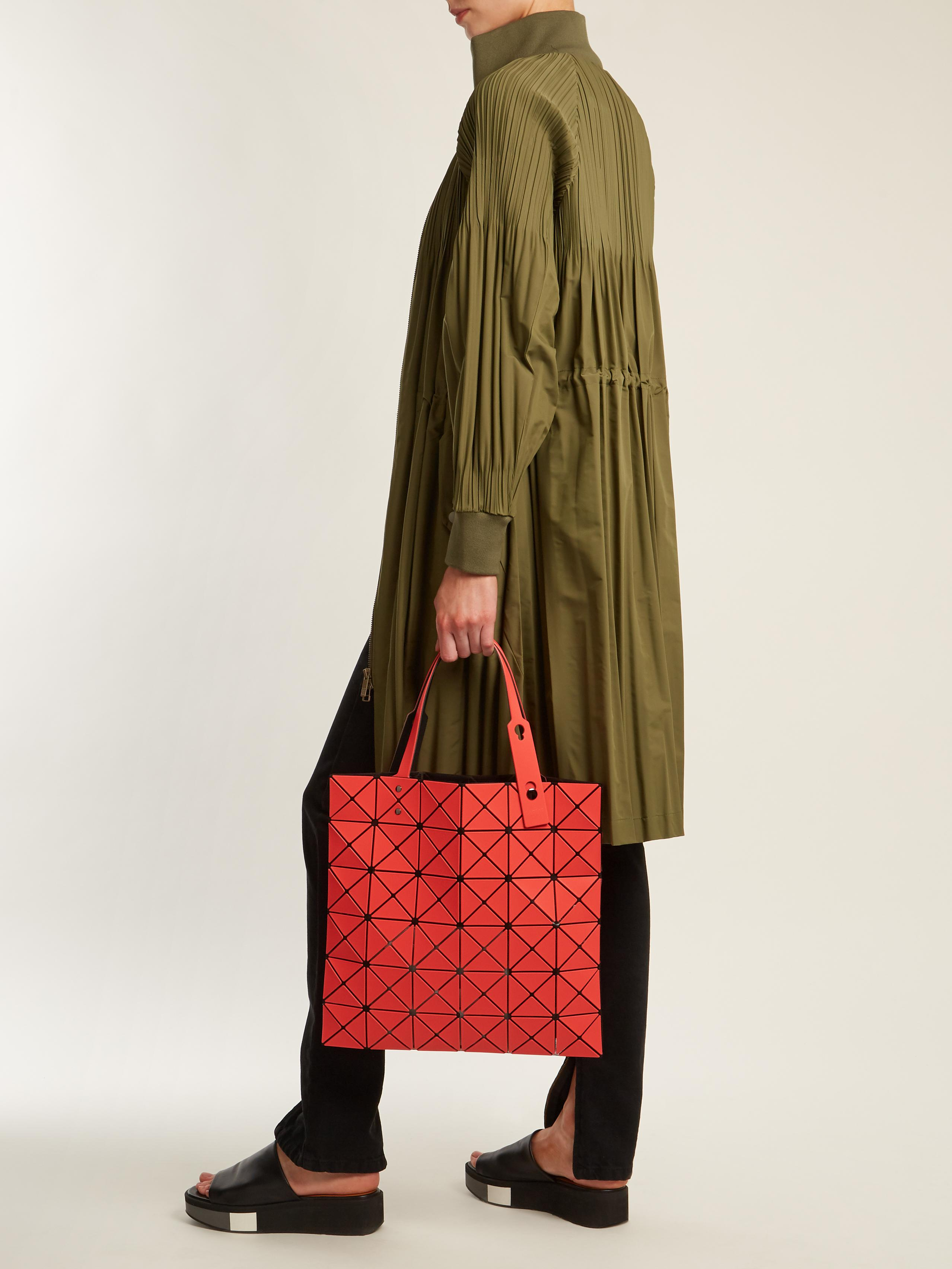 4986a44ec0f8 Lyst - Bao Bao Issey Miyake Lucent Twill Tote in Red