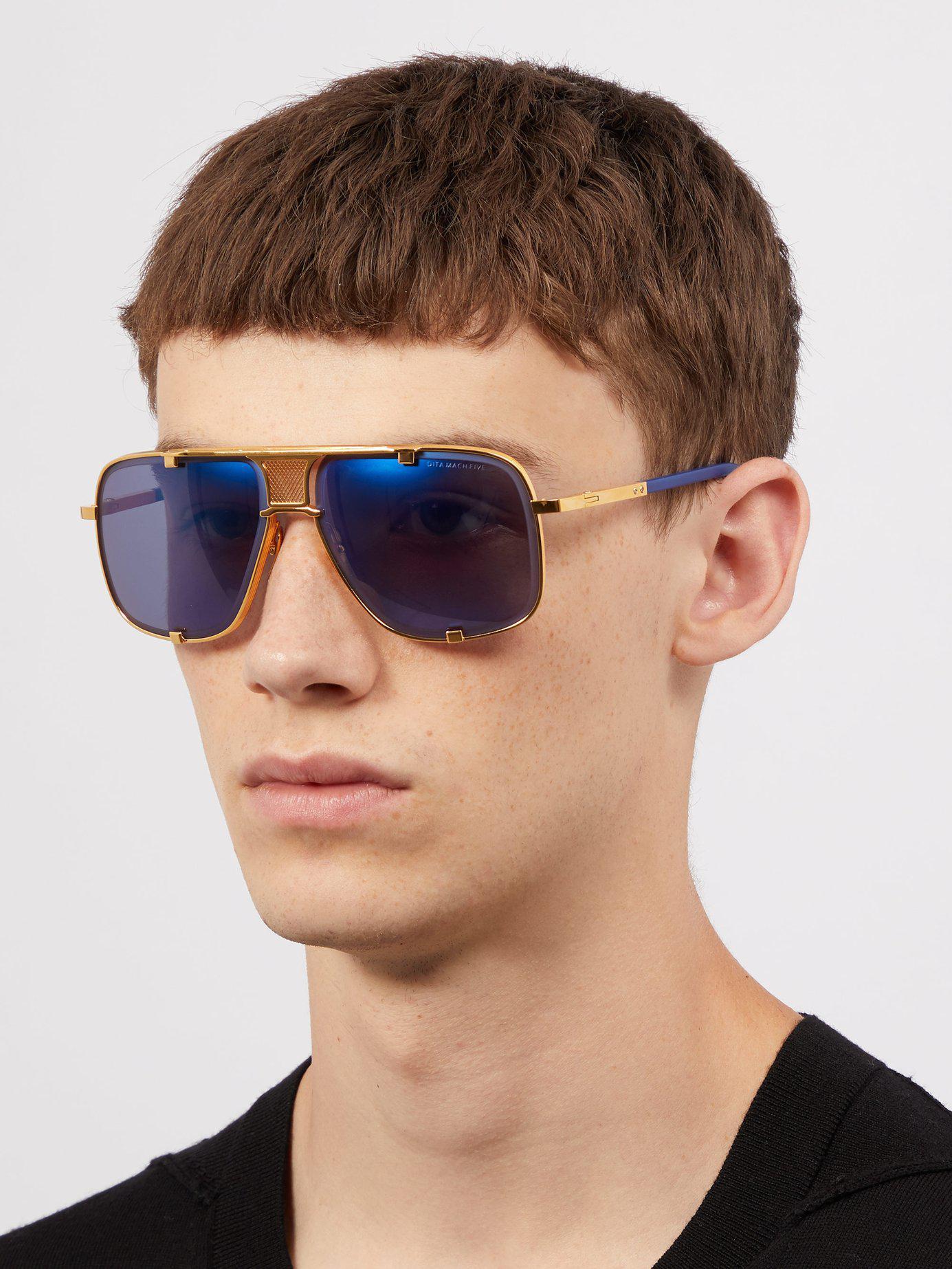 7671d20b38d Lyst - Dita Eyewear Mach Five Metal Sunglasses in Metallic for Men