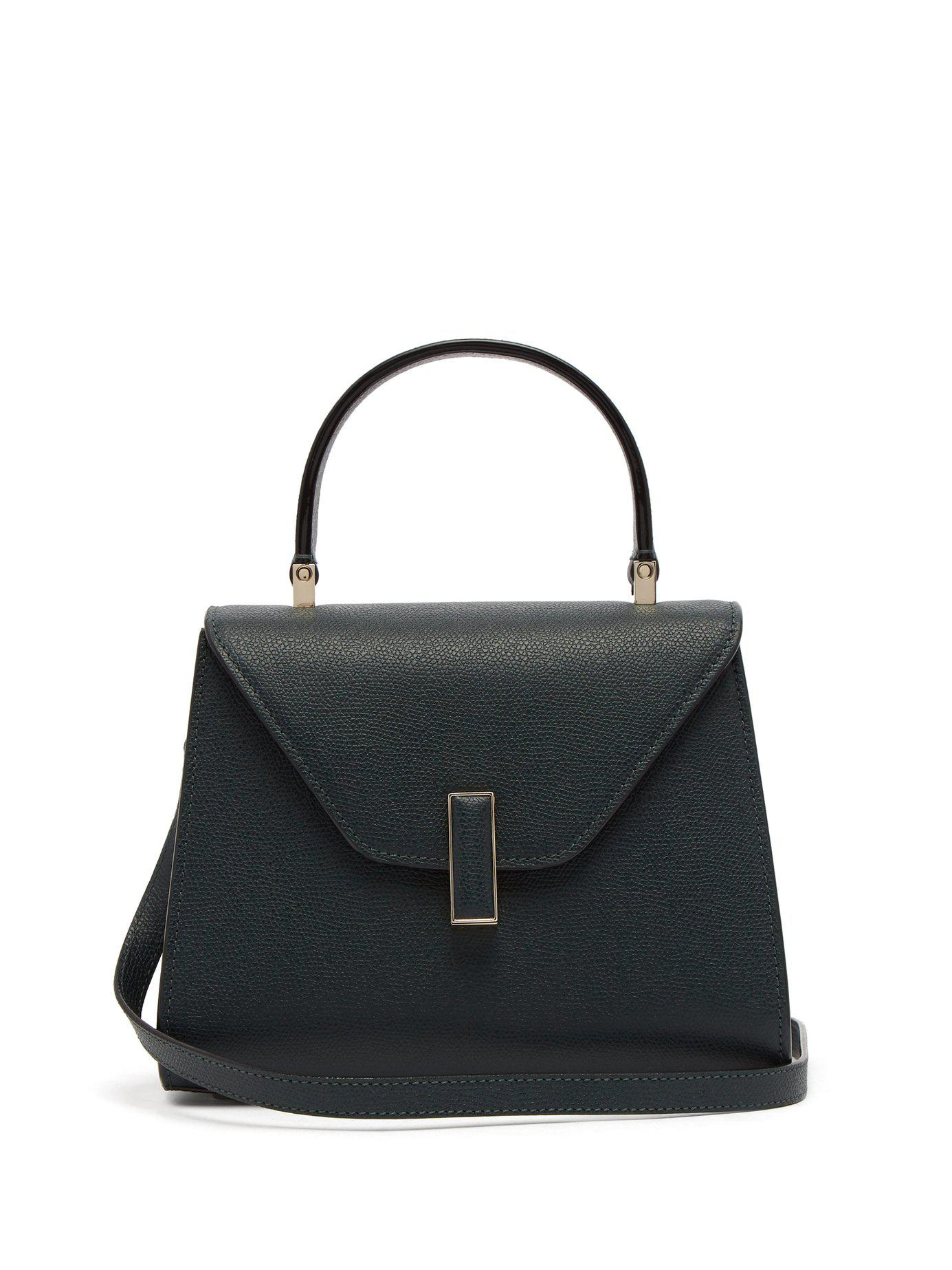 9e699c05f5 Valextra - Green Iside Mini Grained Leather Bag - Lyst. View fullscreen