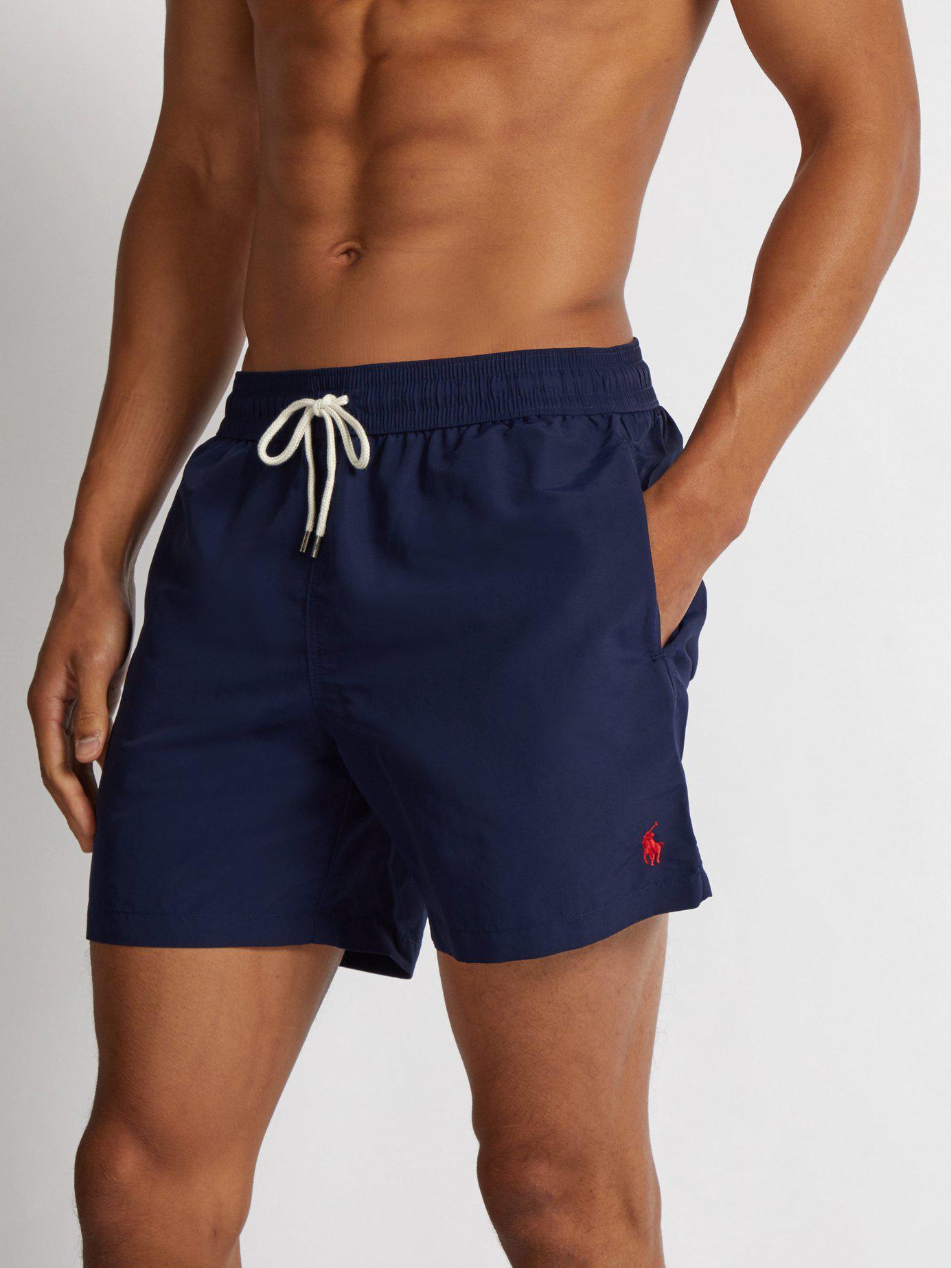 aeb02cad0 ... low cost polo ralph lauren blue block colour swim shorts for men lyst.  view fullscreen