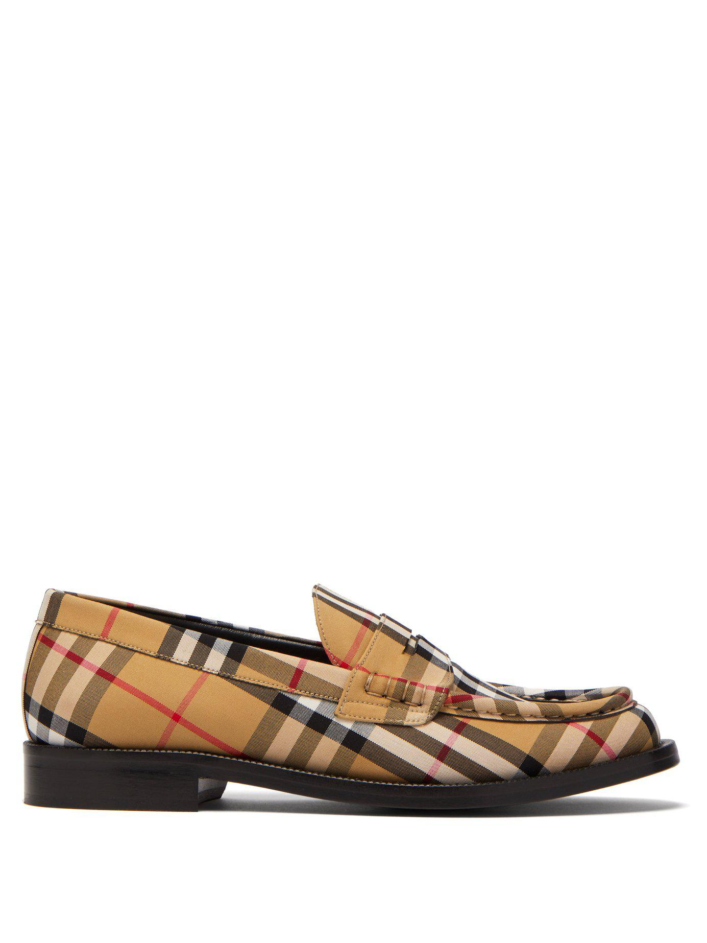 545fae693d5 Lyst - Burberry Bedmont Vintage-check Loafers
