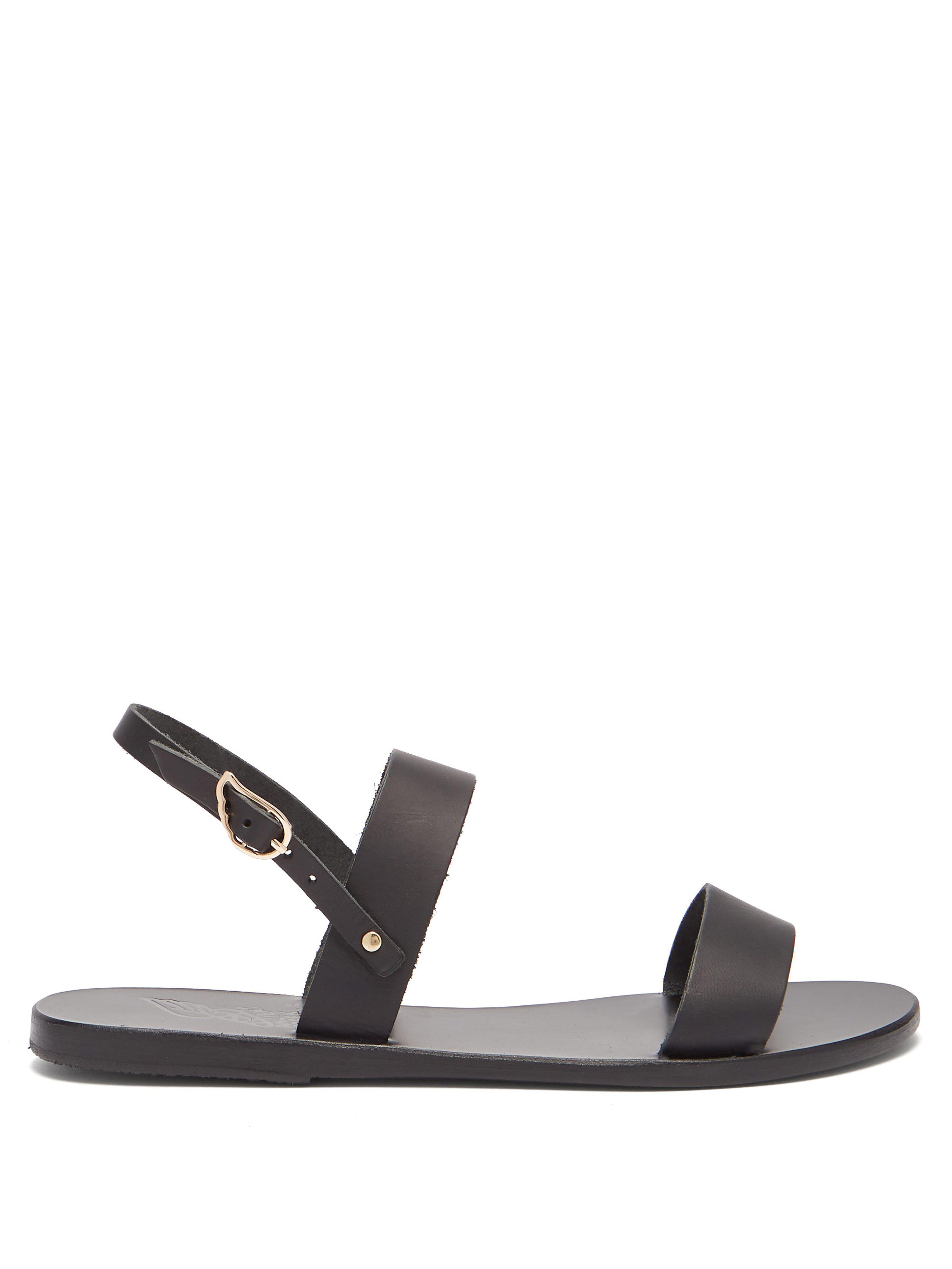 445b07c803b51 Ancient Greek Sandals Clio Leather Sandals in Black - Lyst