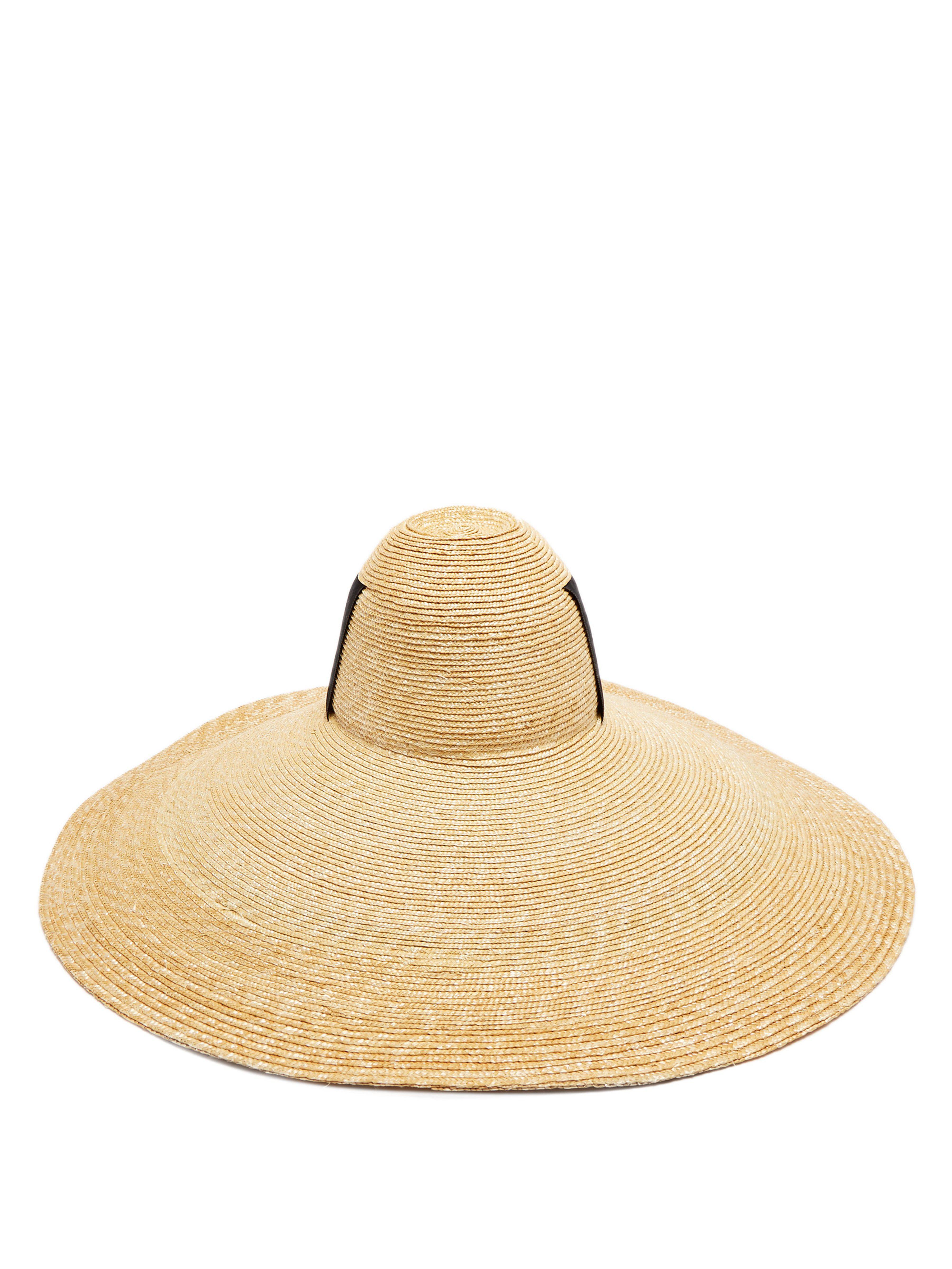 b1faec3e9b2 Lola Hats - Black Sugar Cone Wide Brim Straw Hat - Lyst. View fullscreen