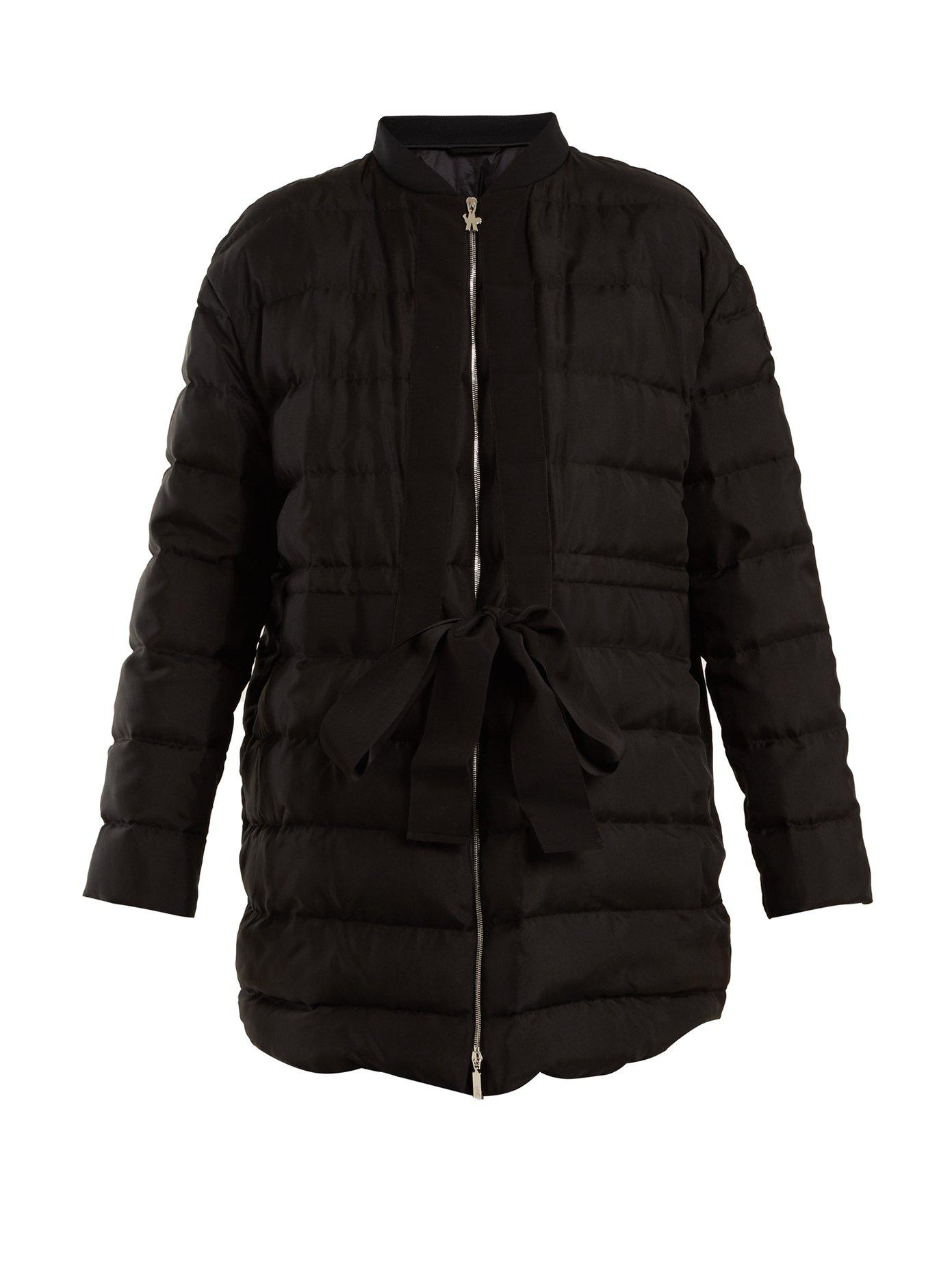 Moncler Gamme Rouge. Women's Black Ramasse Silk Quilted Down Jacket