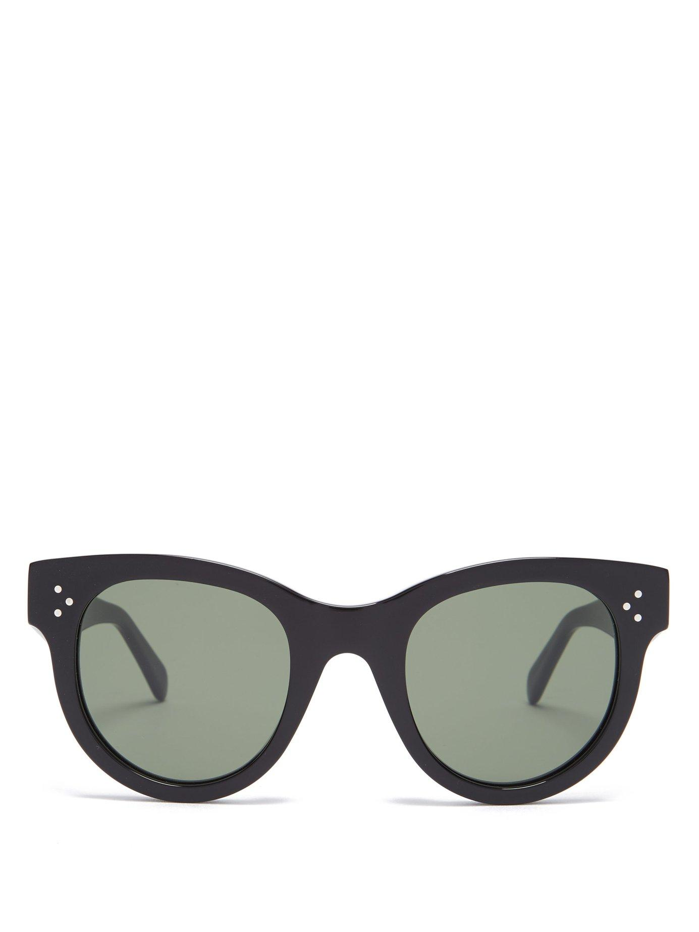 637ccb1637e1 Lyst - Céline Baby Audrey Cat Eye Acetate Sunglasses in Black