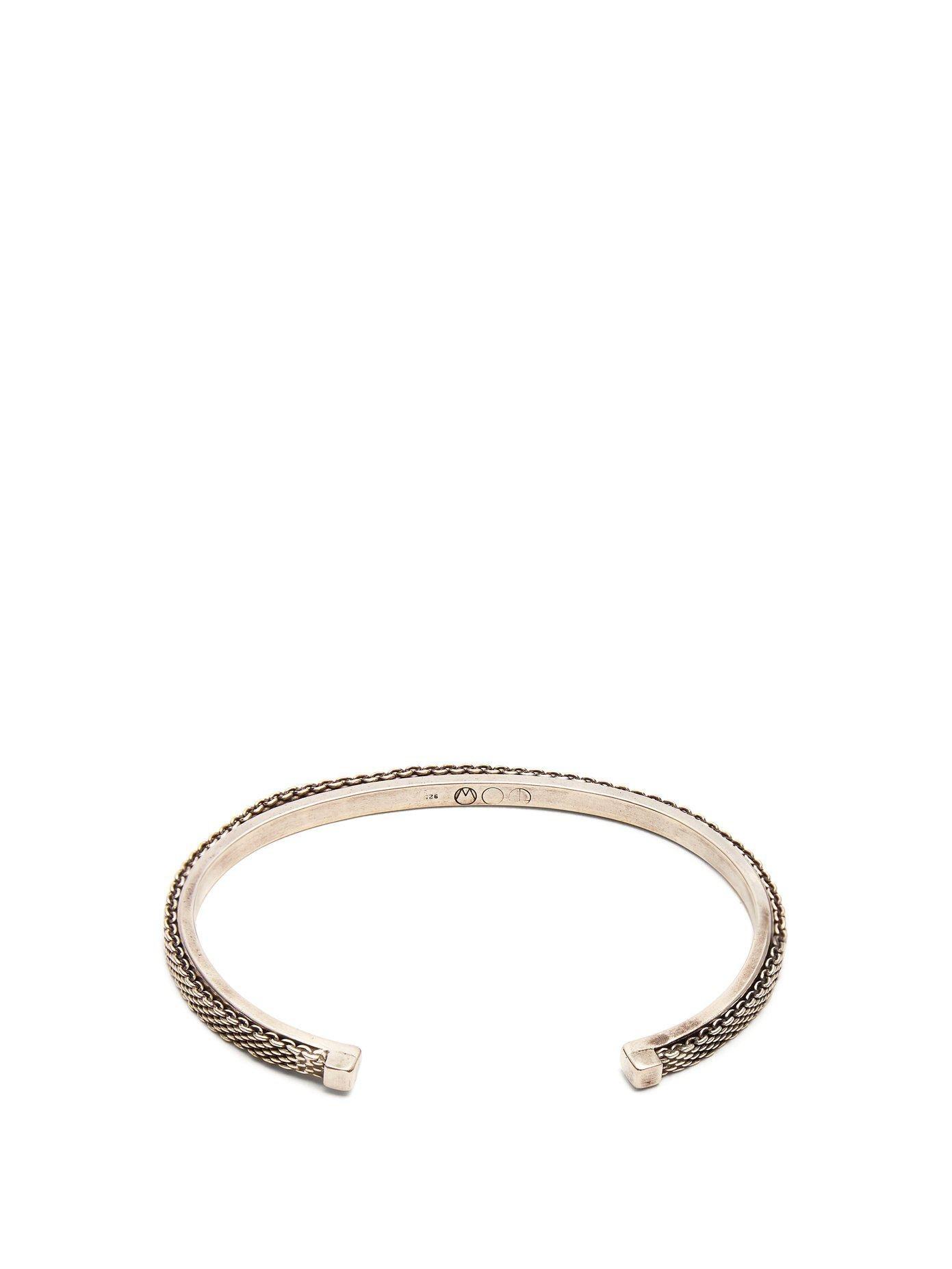 Title Of Work Macro-mesh sterling-silver bracelet 6WIcNi