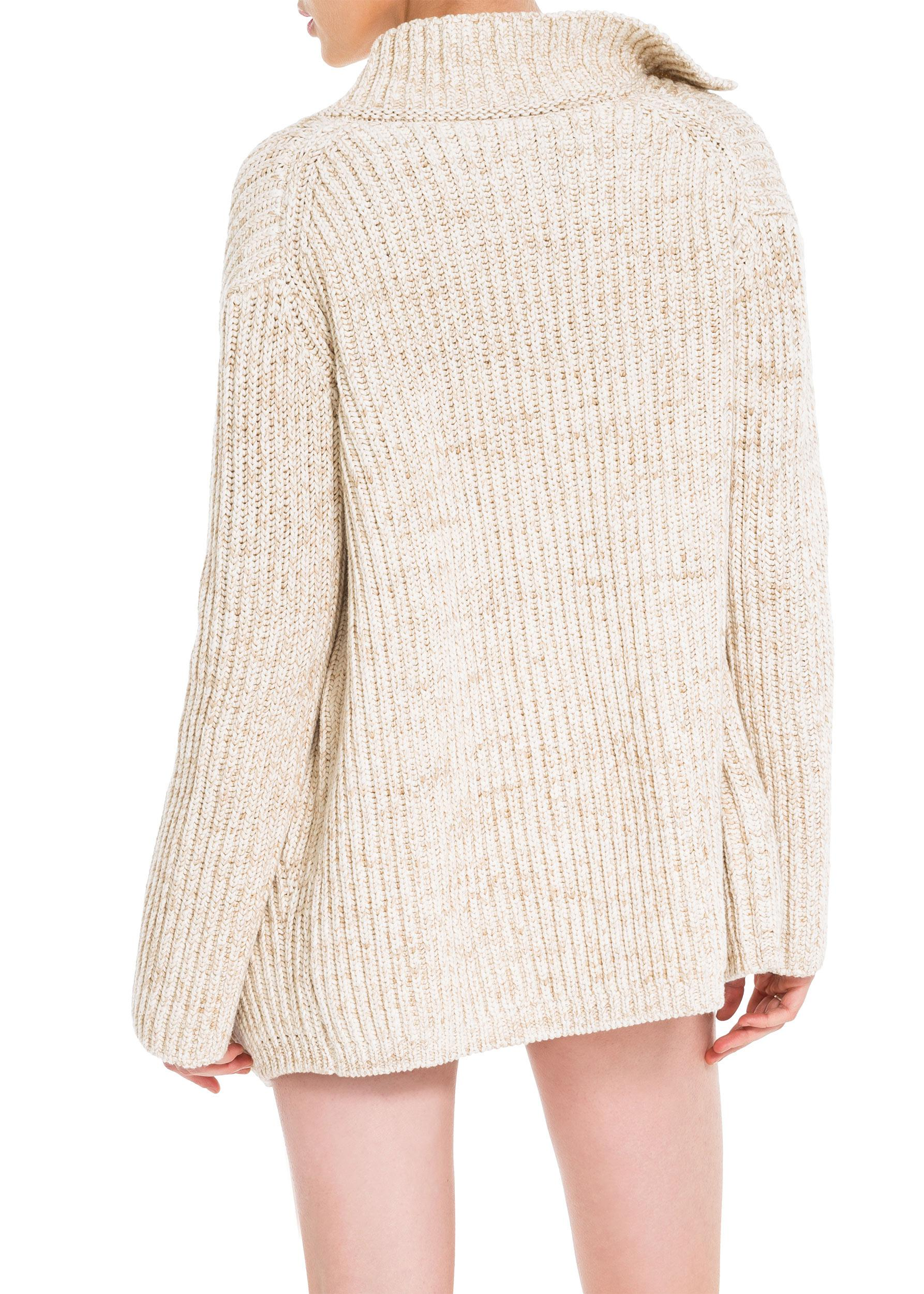 Leon max Ramie And Cotton Ribbed Boyfriend Cardigan | Lyst