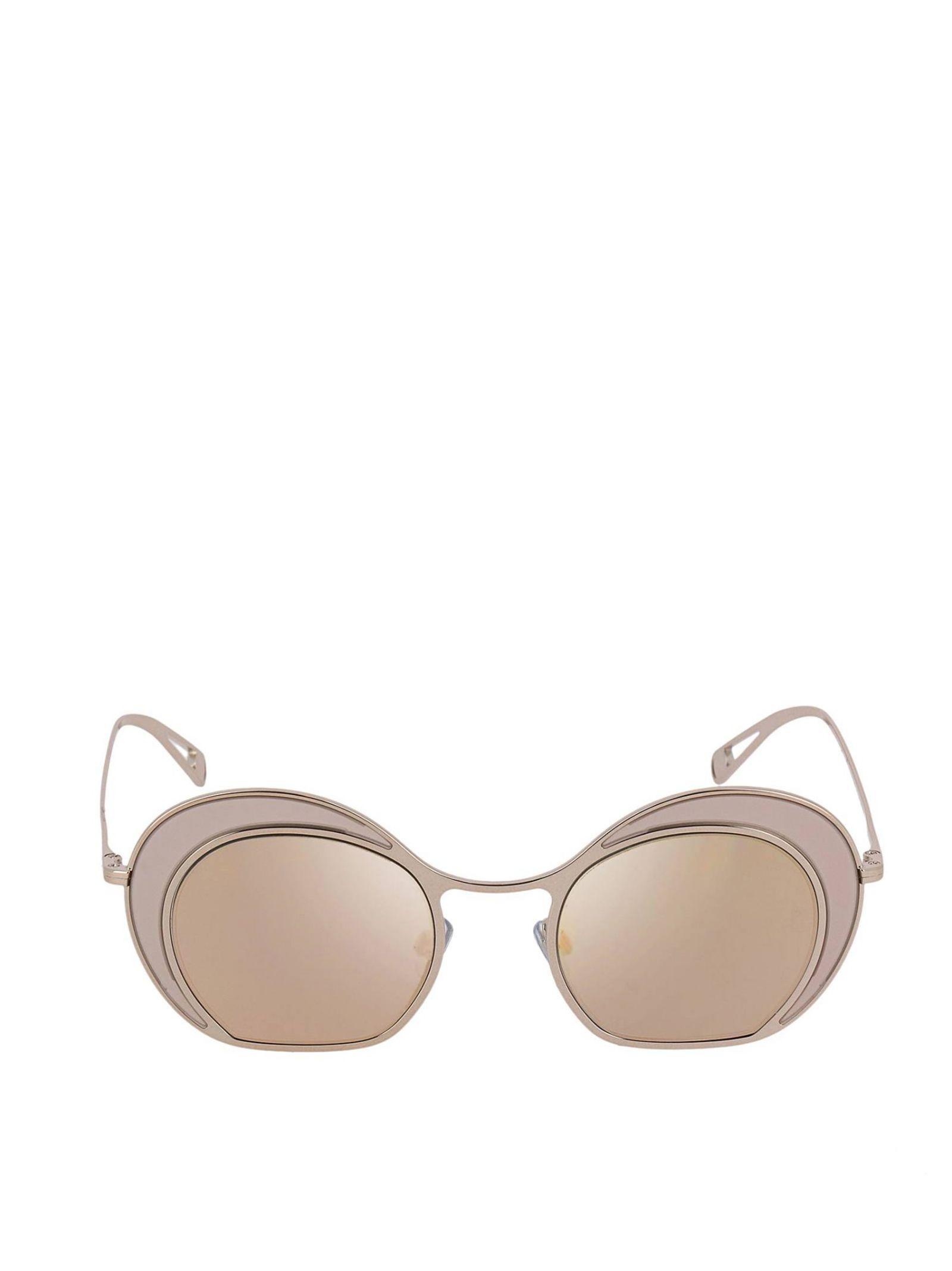 5e6a3691ad0b Lyst - Giorgio Armani Pink Metal Sunglasses in Pink