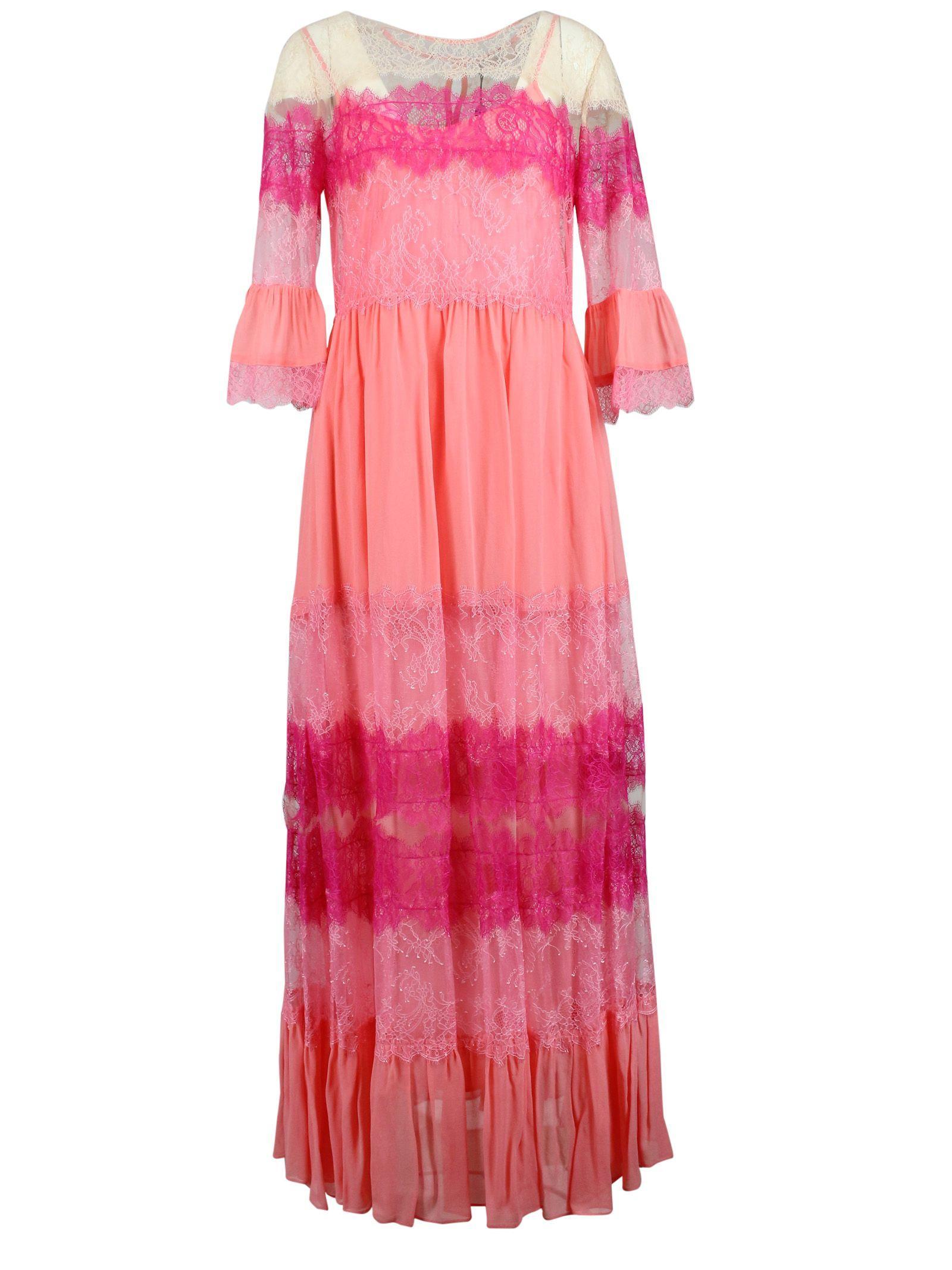 c321d5b00f3ffa Lyst - Twin Set Dress Women in Pink - Save 15%