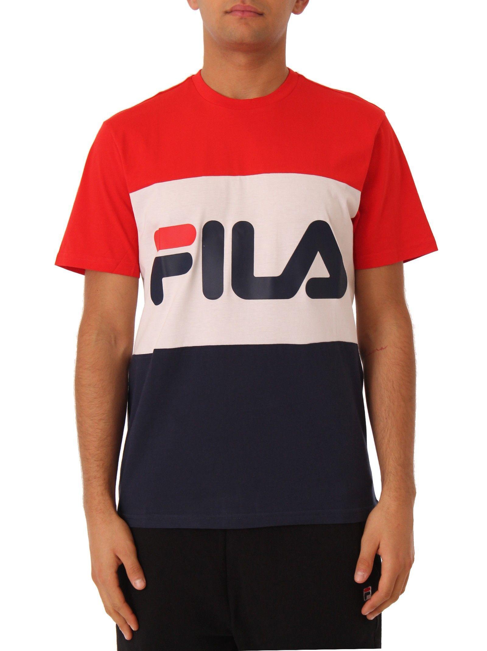 f245391e309b9 Lyst - Fila Multicolor Cotton T-shirt in Pink for Men