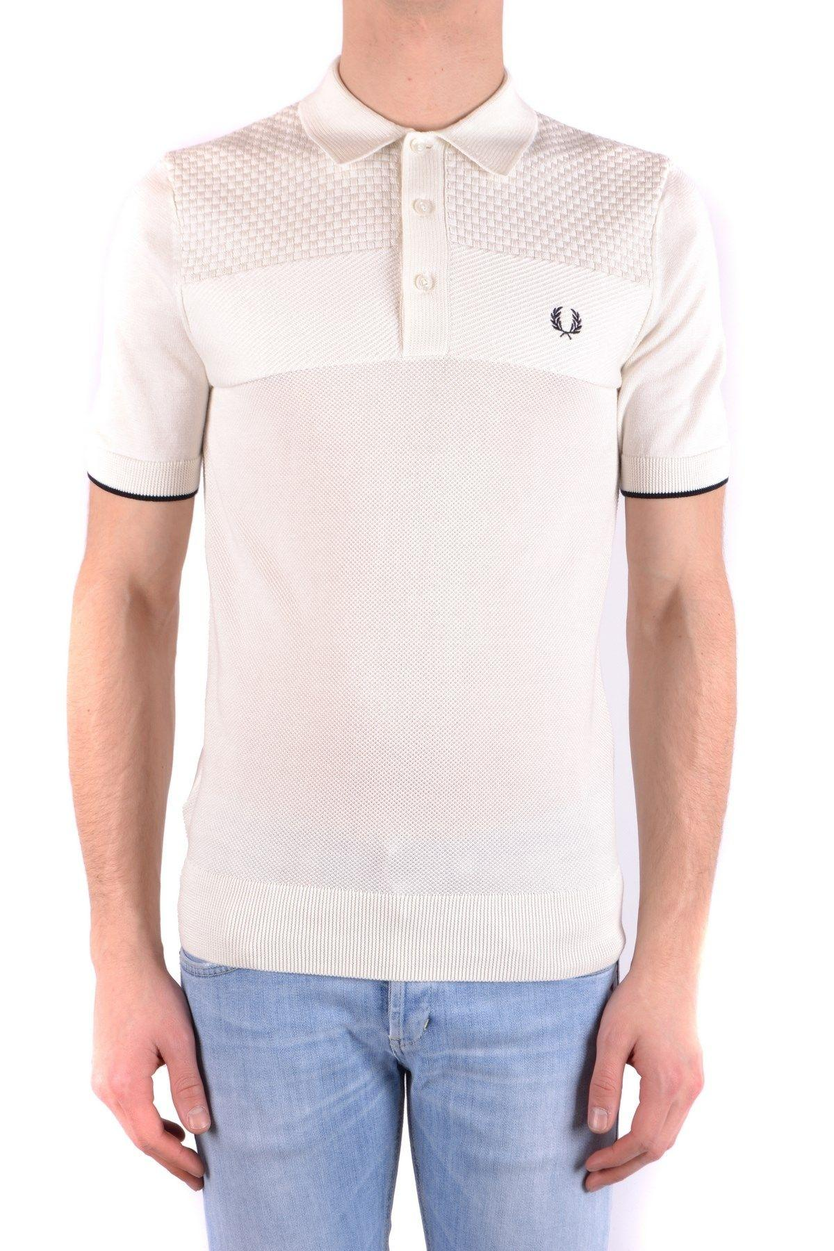 Fred Perry White Polo Shirt in White for Men - Lyst