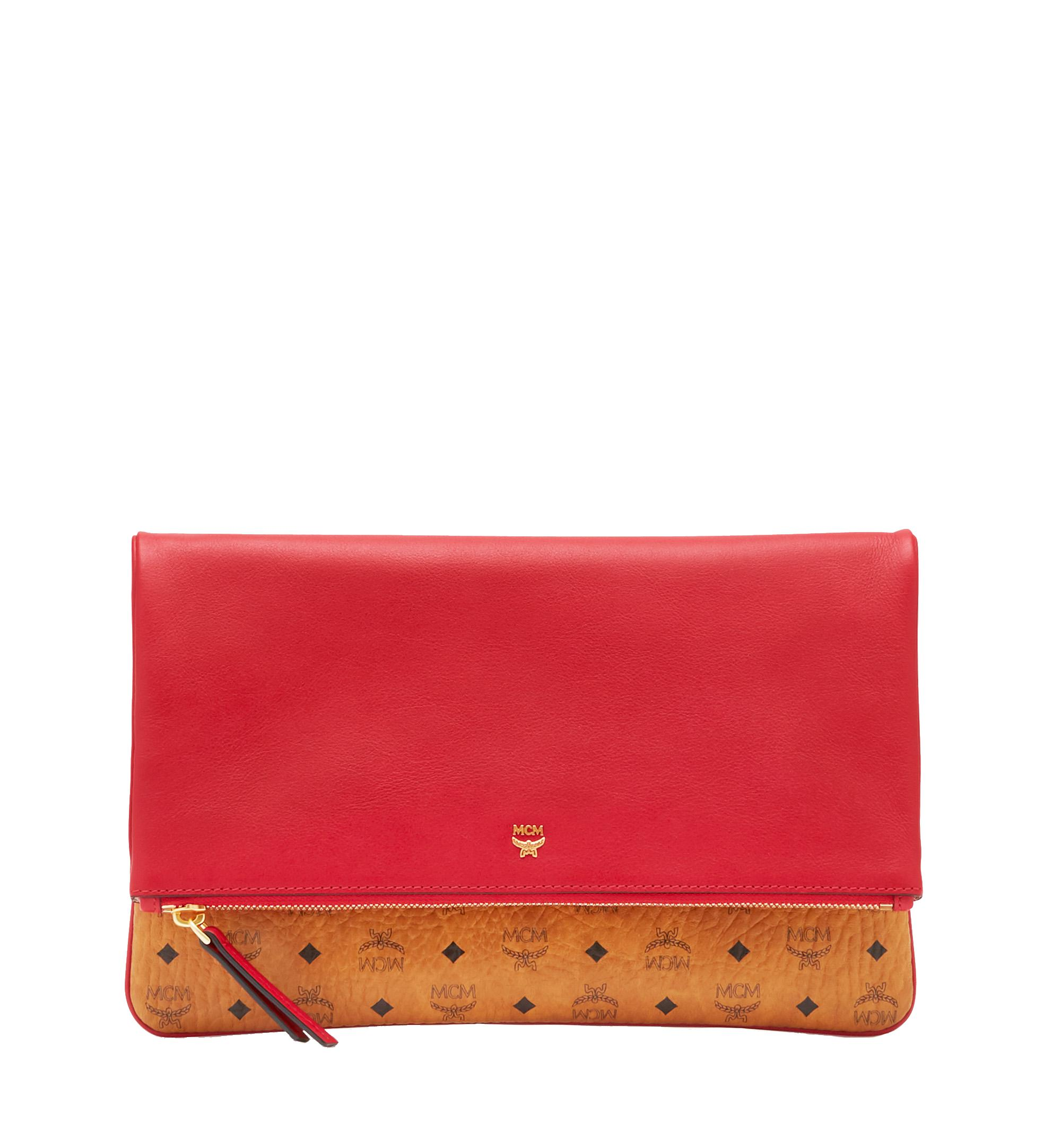b164eba3d MCM Corina Crossbody Clutch In Visetos Block Leather in Red - Lyst
