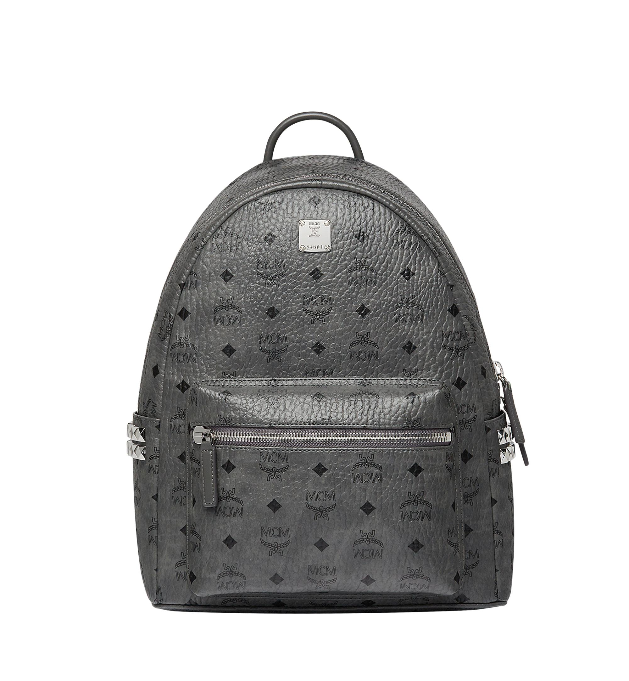 MCM Stark Medium Stud Faux Leather Backpack in Gray - Save 5% - Lyst 0adc2c80e9