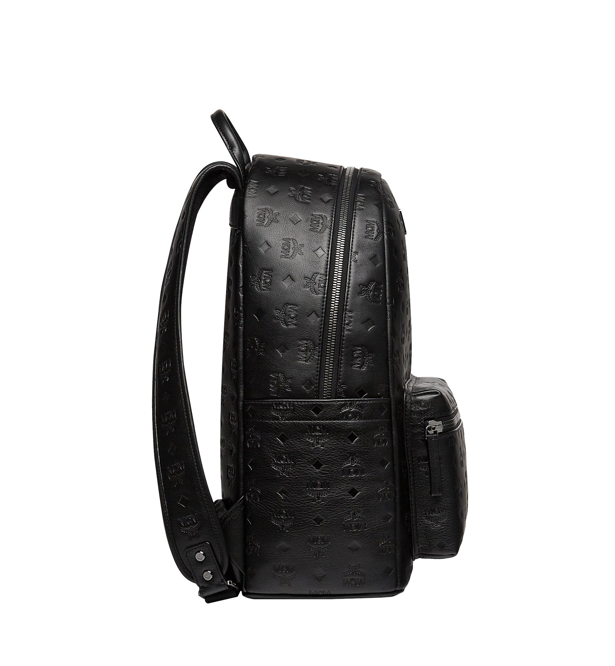 feda921ba320 MCM - Black Stark Backpack In Monogram Leather for Men - Lyst. View  fullscreen