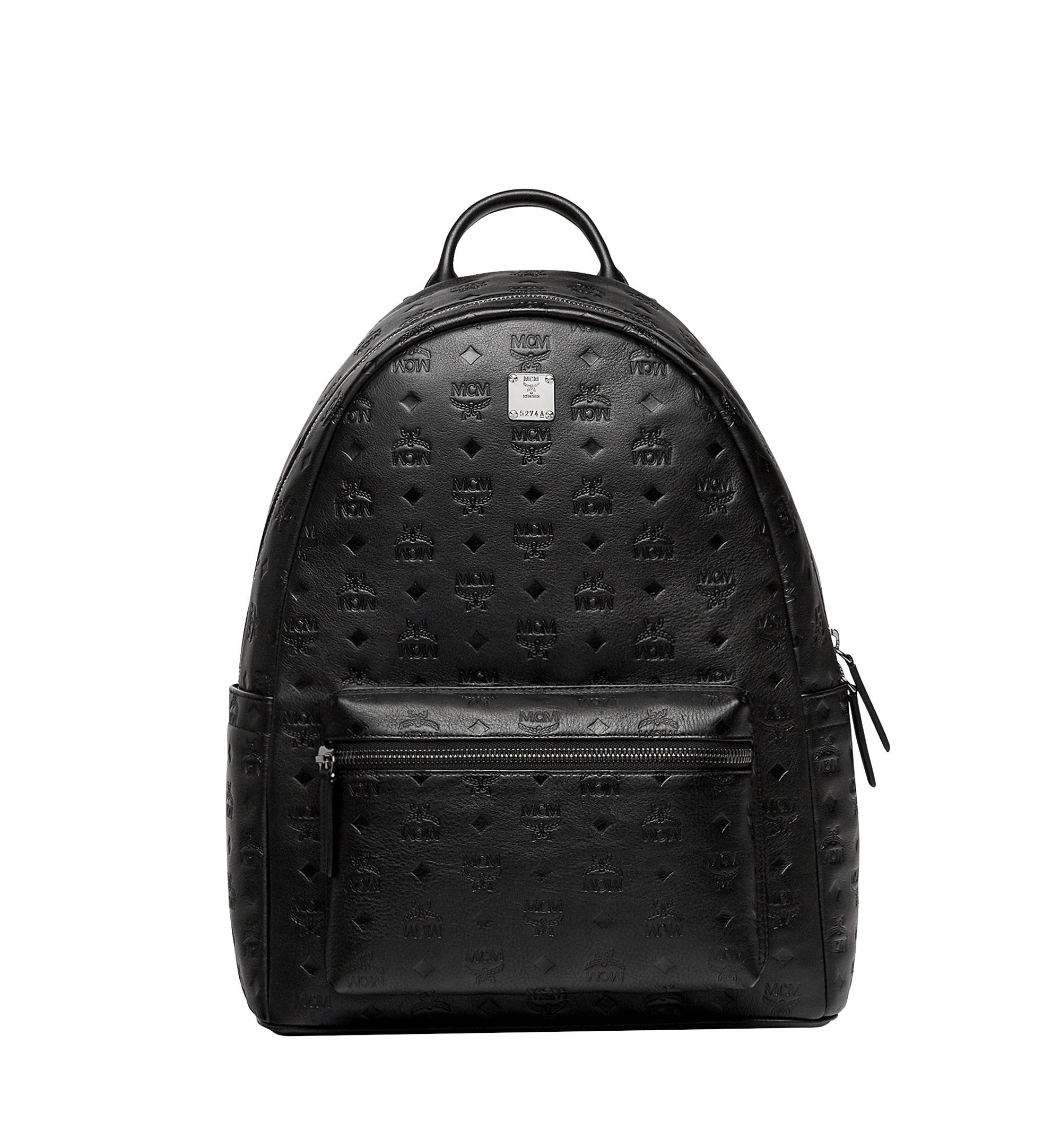 a0ee2fae7a52 MCM Stark Backpack In Monogram Leather in Black for Men - Lyst