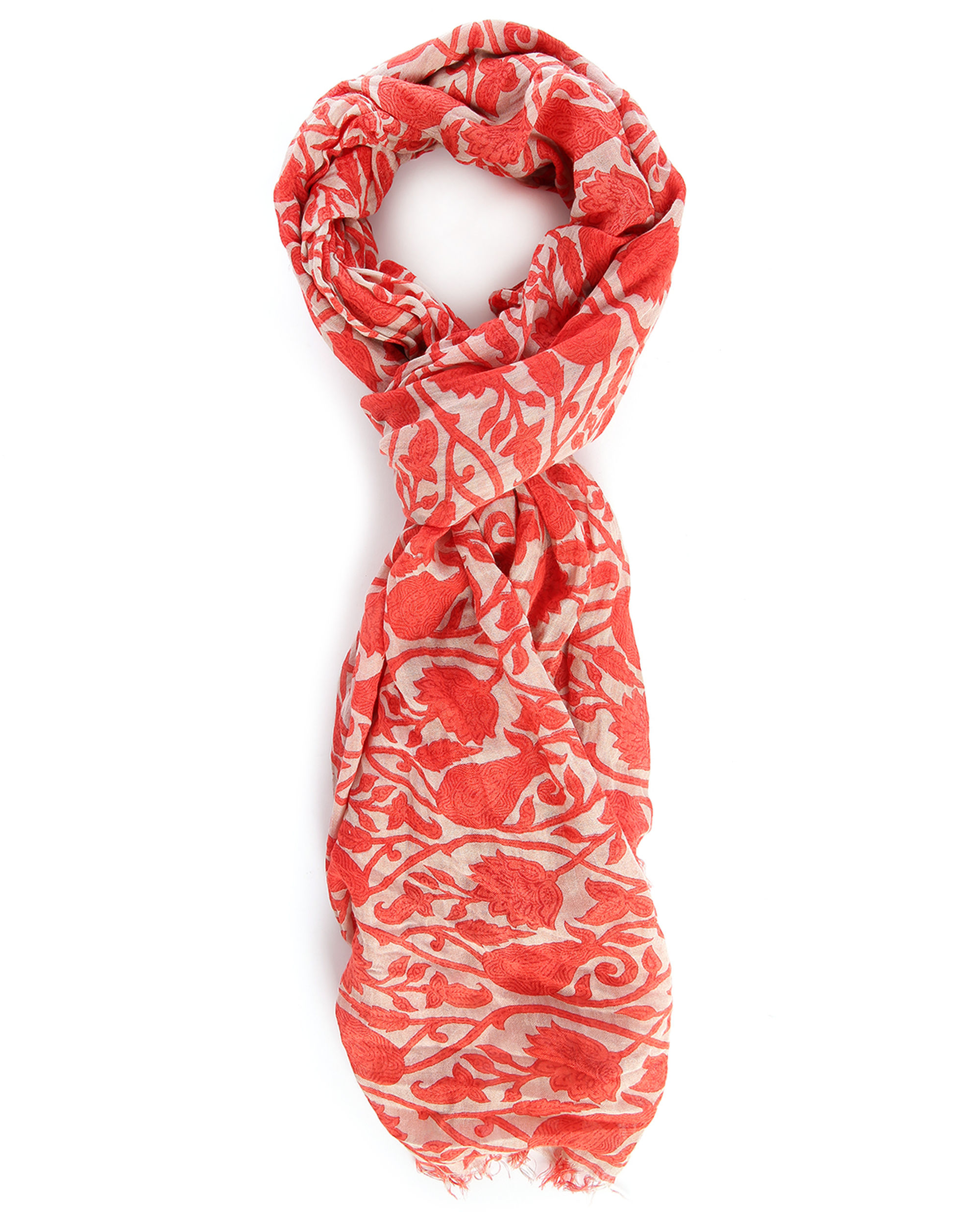 closed paisley printed modal cotton scarf in for