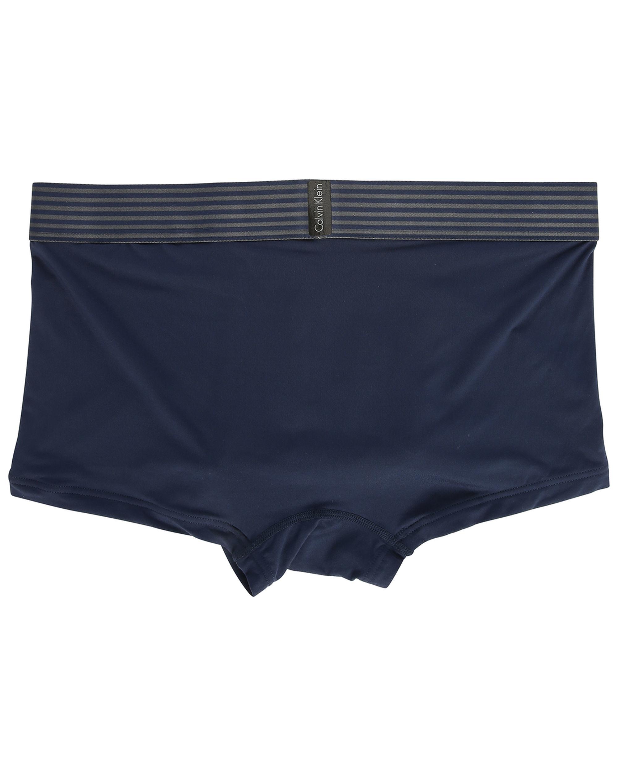 calvin klein navy microfibre boxer shorts in blue for men. Black Bedroom Furniture Sets. Home Design Ideas
