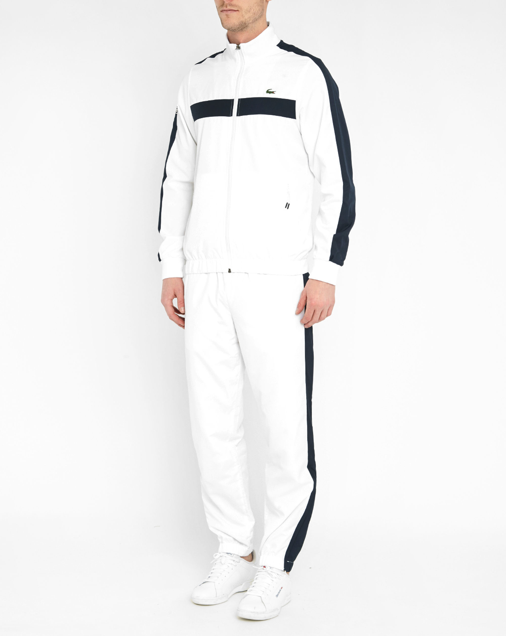 Lacoste White And Blue Tracksuit In Blue For Men Lyst