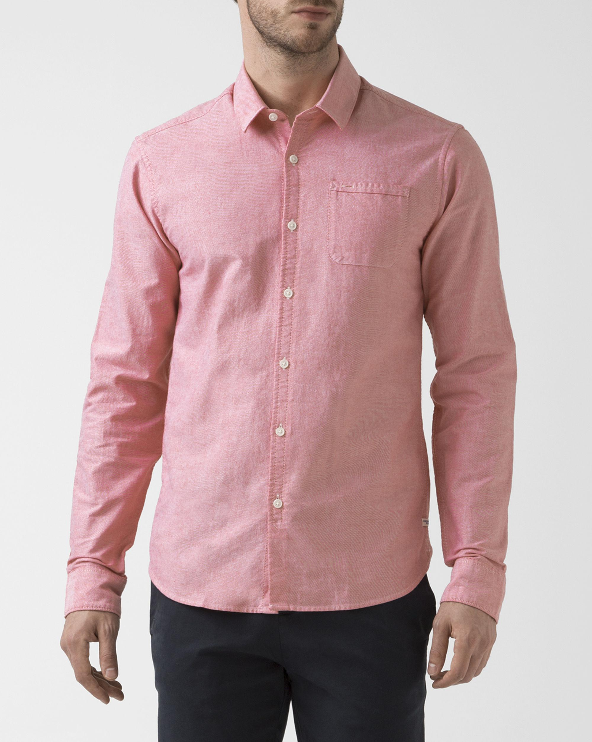 Scotch soda pink pocket oxford shirt in pink for men lyst for Pink oxford shirt men