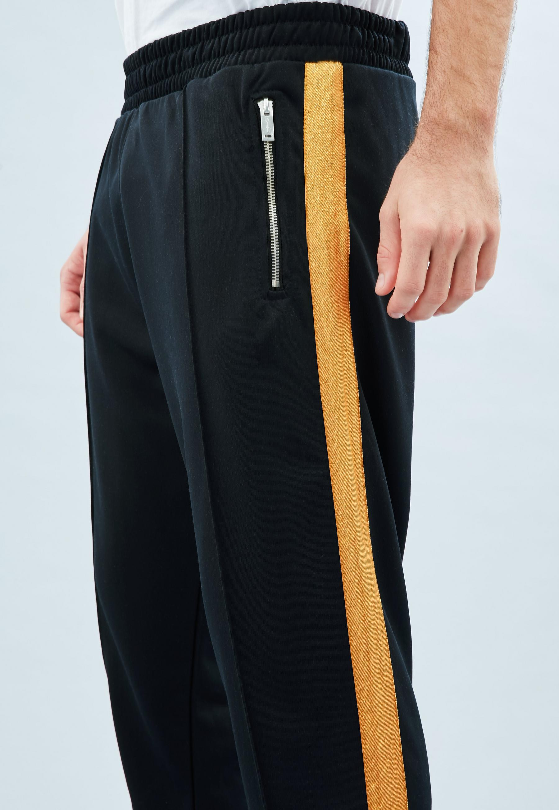 a77dbd62f181 ... Navy Tricot Knit Gold Stripe Tracksuit Bottoms for Men - Lyst. View  fullscreen