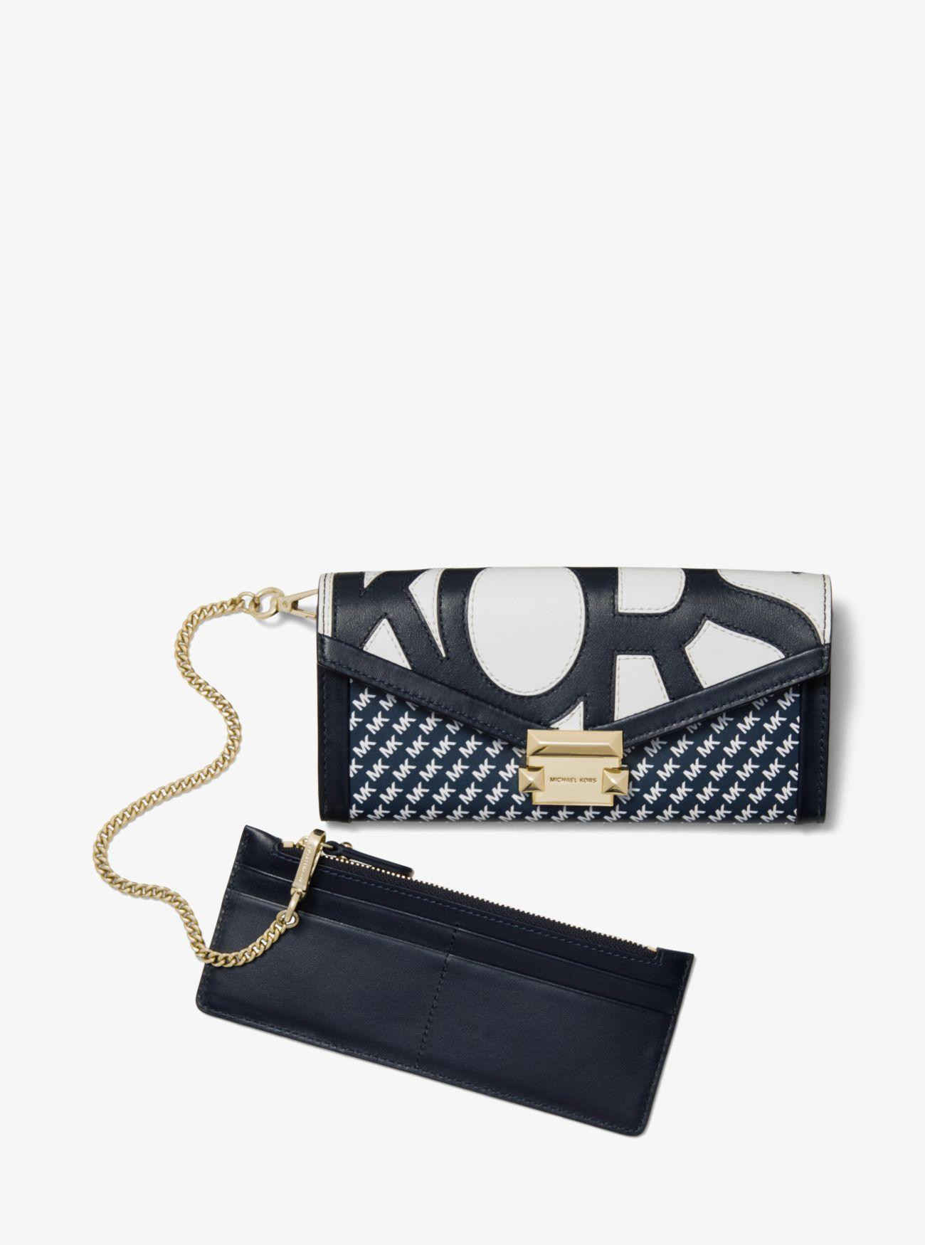 bb799e12459a MICHAEL Michael Kors - Multicolor Whitney Large Graphic Logo Chain Wallet -  Lyst. View fullscreen