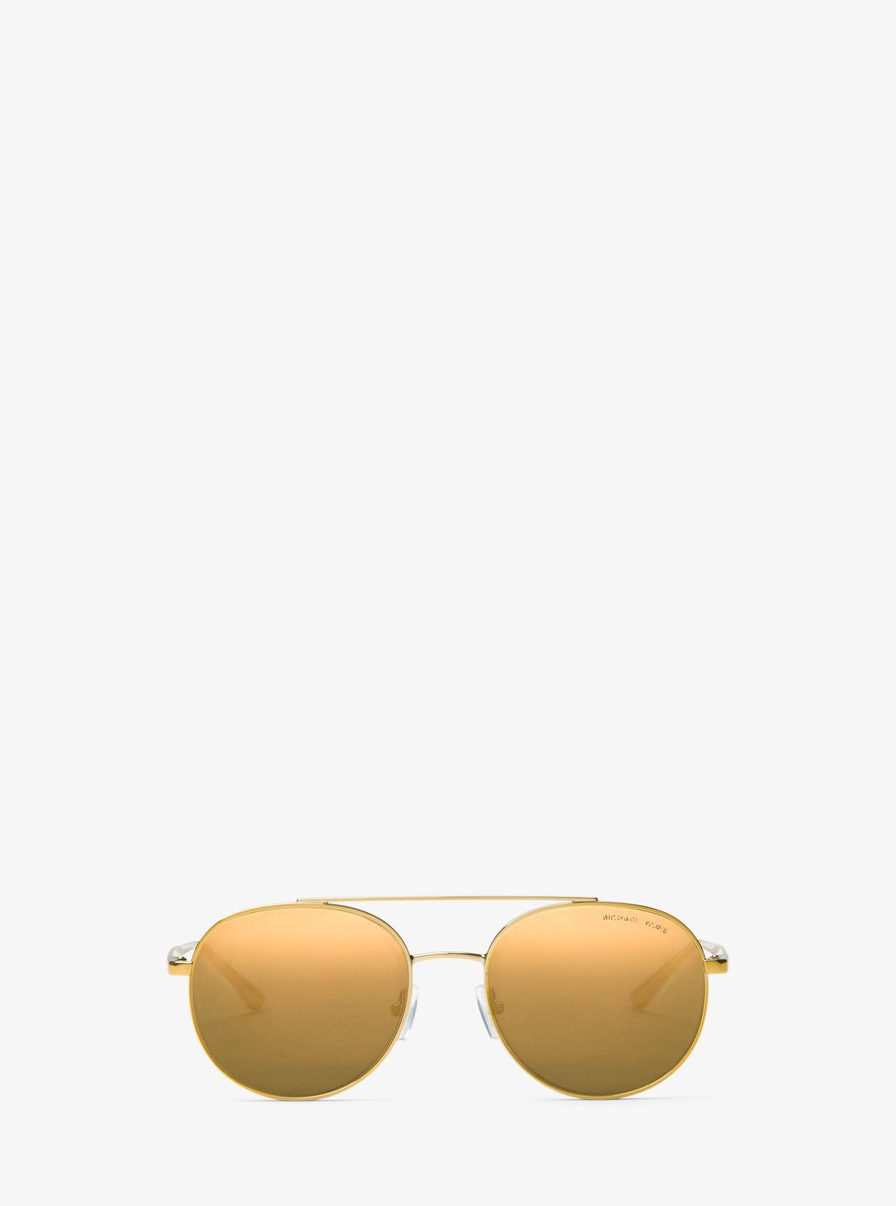 73eb67d93009 Michael Kors Lon Rounded Aviator Sunglasses in Metallic - Lyst