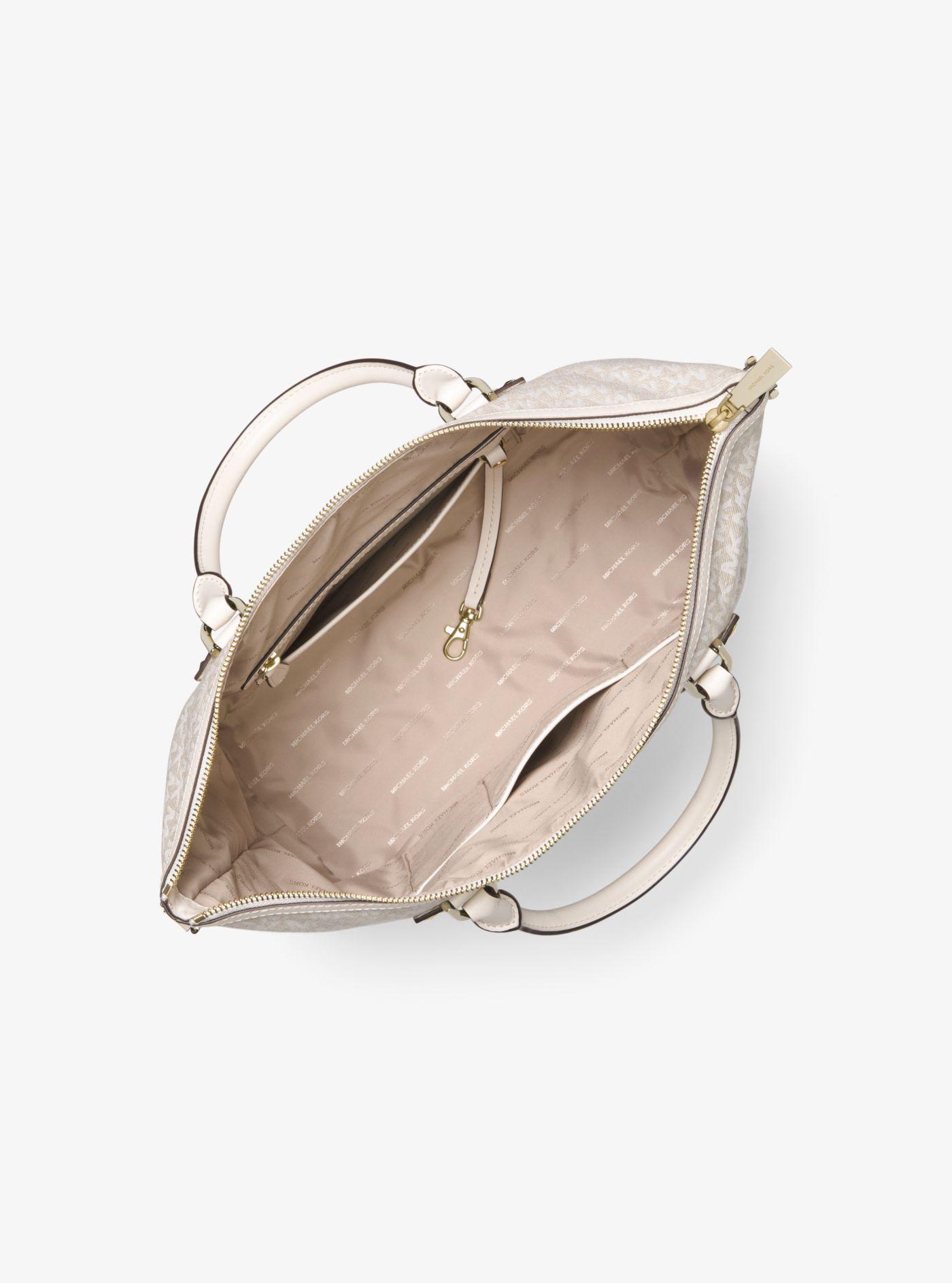 3d26c934b93a9b Michael Kors Griffin Large Leather Satchel - Lyst
