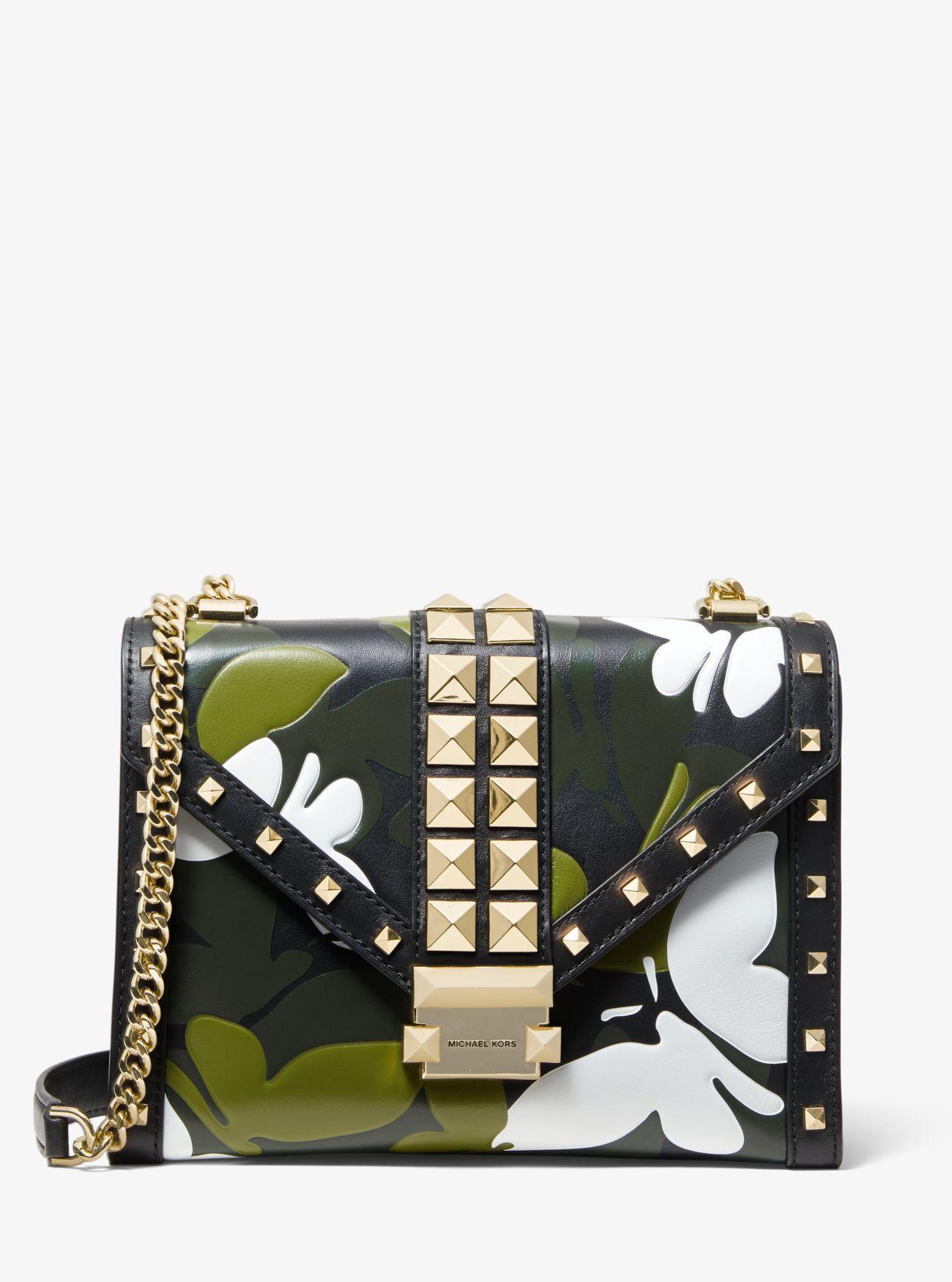6e5315b121f4 MICHAEL Michael Kors. Women s Black Whitney Large Butterfly Camo  Convertible Shoulder Bag