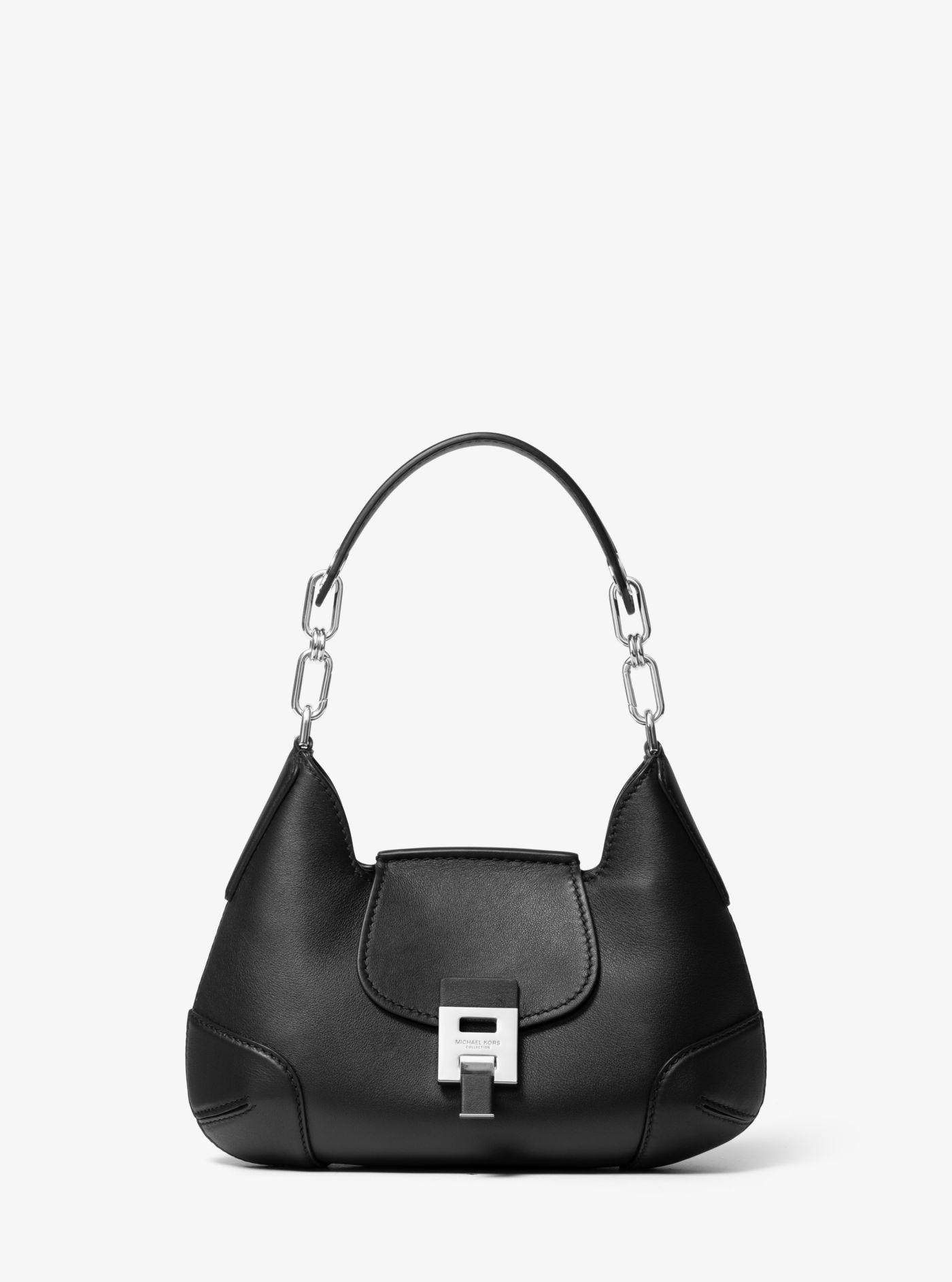 30fd44cbba7d Michael Kors - Black Bancroft Small Calf Leather Shoulder Bag - Lyst. View  fullscreen