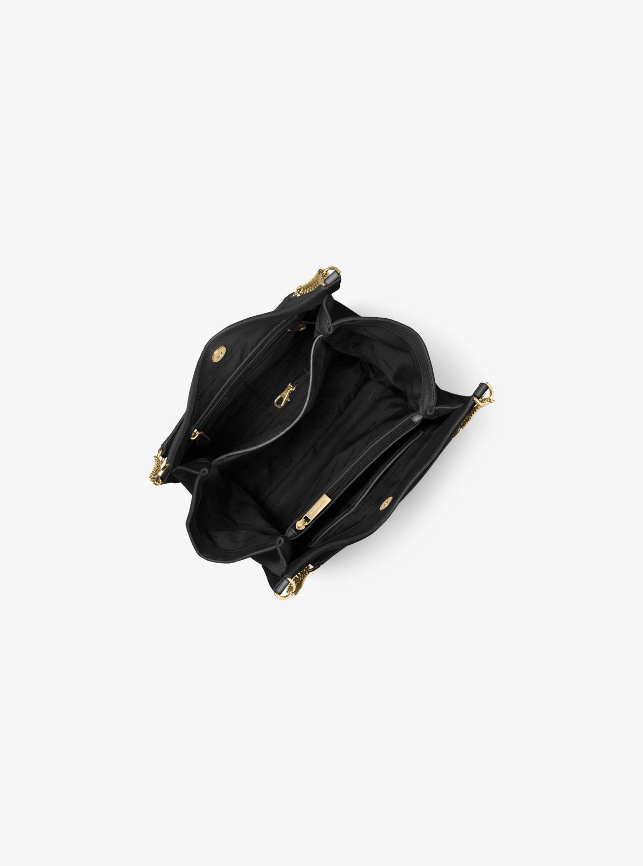 3b20037f68c Lyst - Michael Kors Newbury Studded Leather Chain Tote Bag in Black