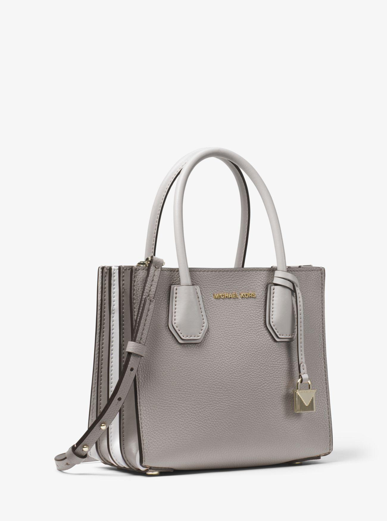 e70e1199c541 Michael Kors - Gray Mercer Medium Pebbled Leather Accordion Crossbody Bag -  Lyst. View fullscreen