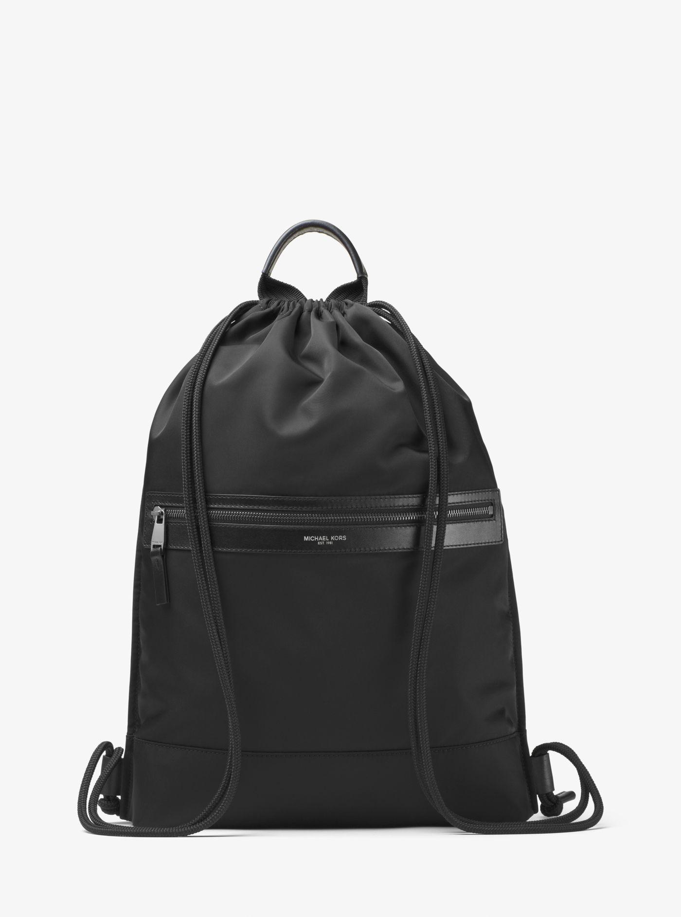 b1130b077db6 Lyst - Michael Kors Kent Nylon Drawstring Backpack in Black for Men