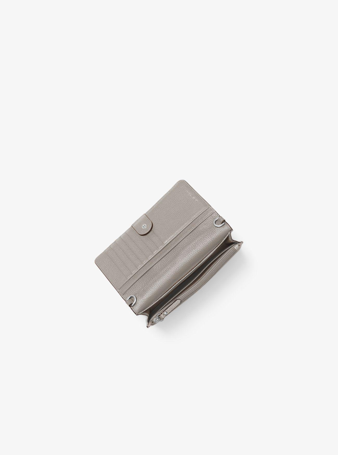 607a26210d81 Michael Kors - Gray Pebbled Leather Convertible Crossbody Bag - Lyst. View  fullscreen