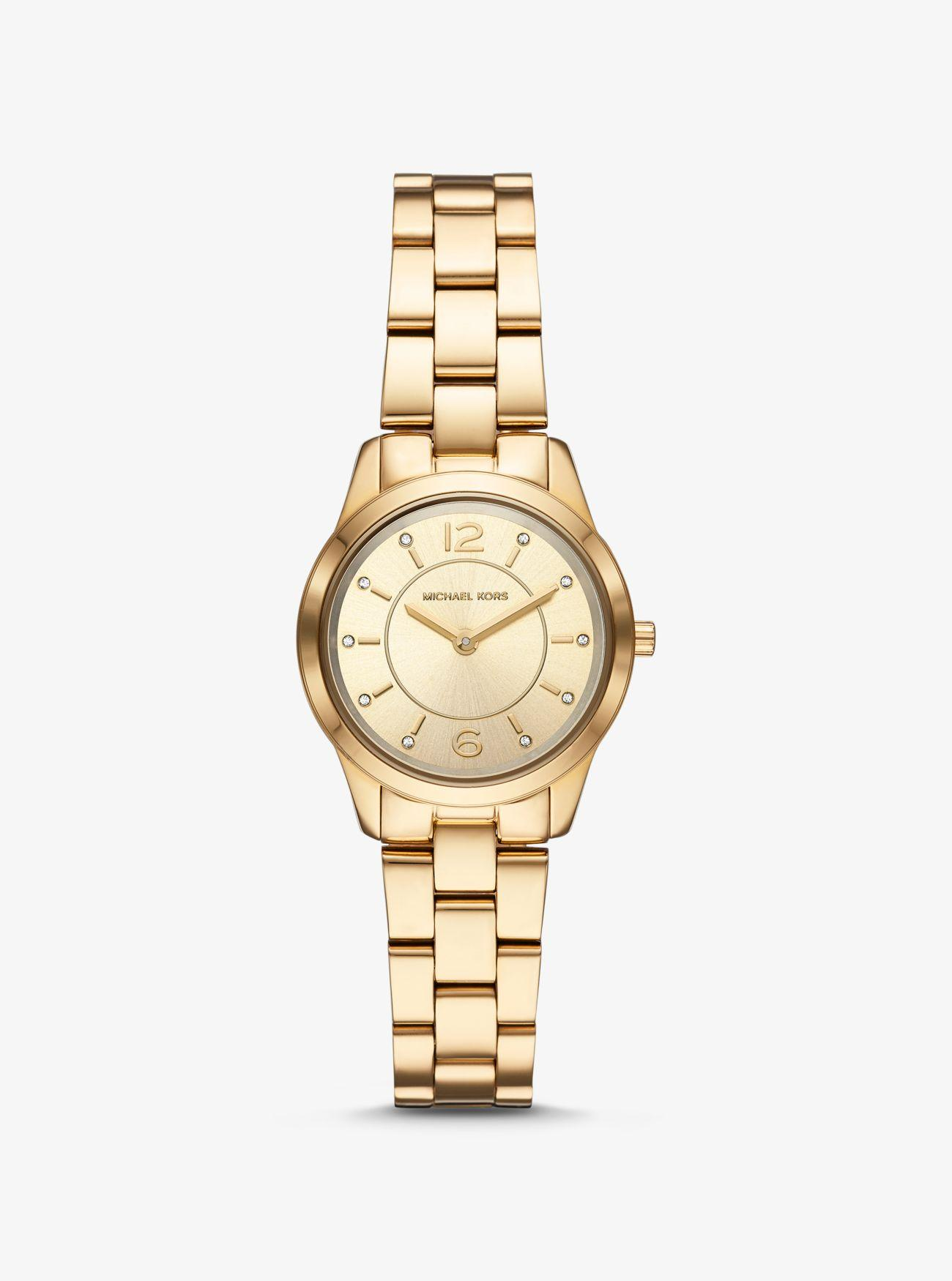 22423dec9e82 Michael Kors - Metallic Petite Runway Gold-tone Watch - Lyst. View  fullscreen