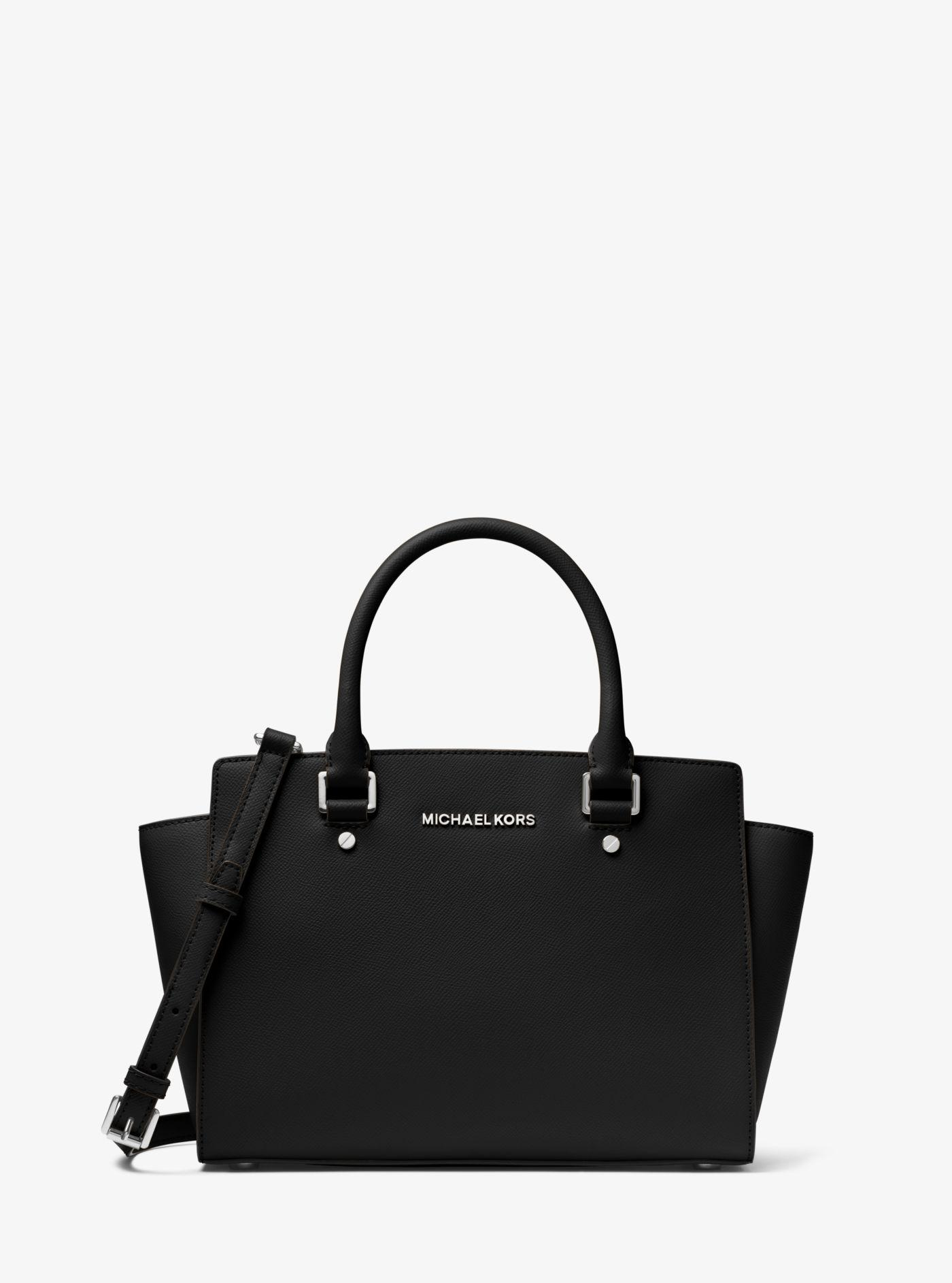 cfebed1df195 Michael Kors - Black Selma Saffiano Leather Medium Satchel - Lyst. View  fullscreen