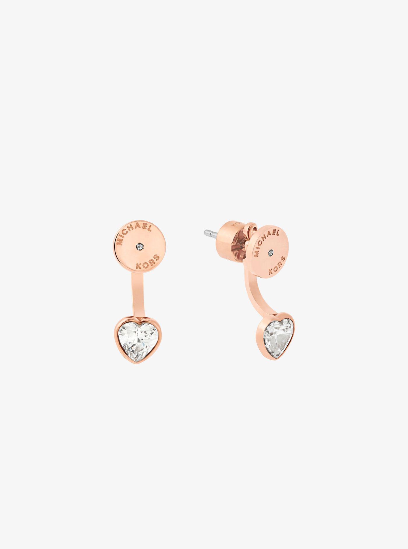 693affdc1b43 Michael Kors Rose Gold Tone Heart Drop Earrings - Best All Earring ...