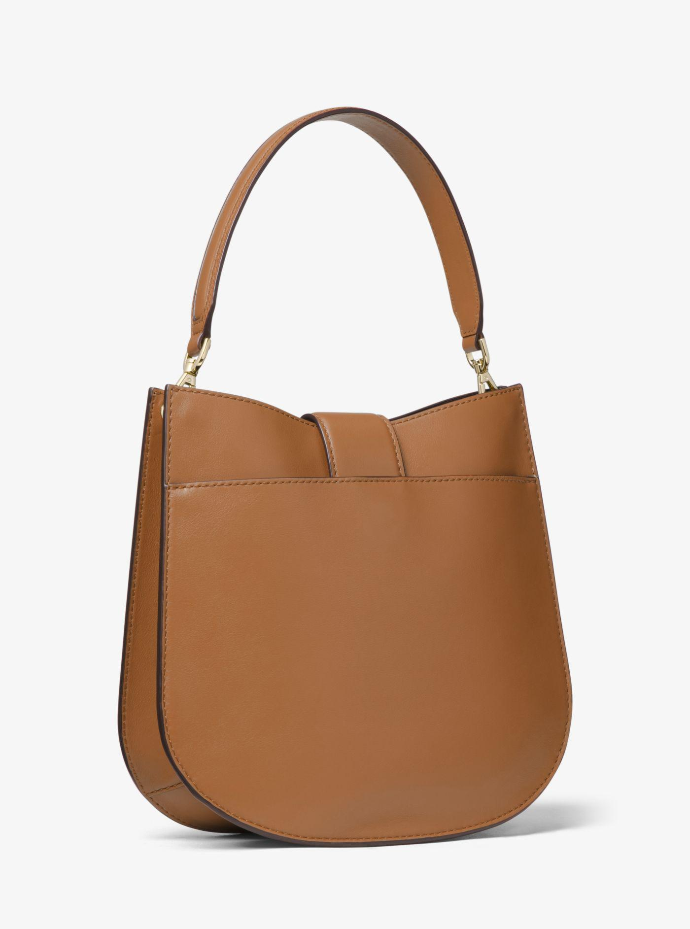 96828ac0ad80 Lyst - Michael Kors Lillie Medium Leather Shoulder Bag in Brown